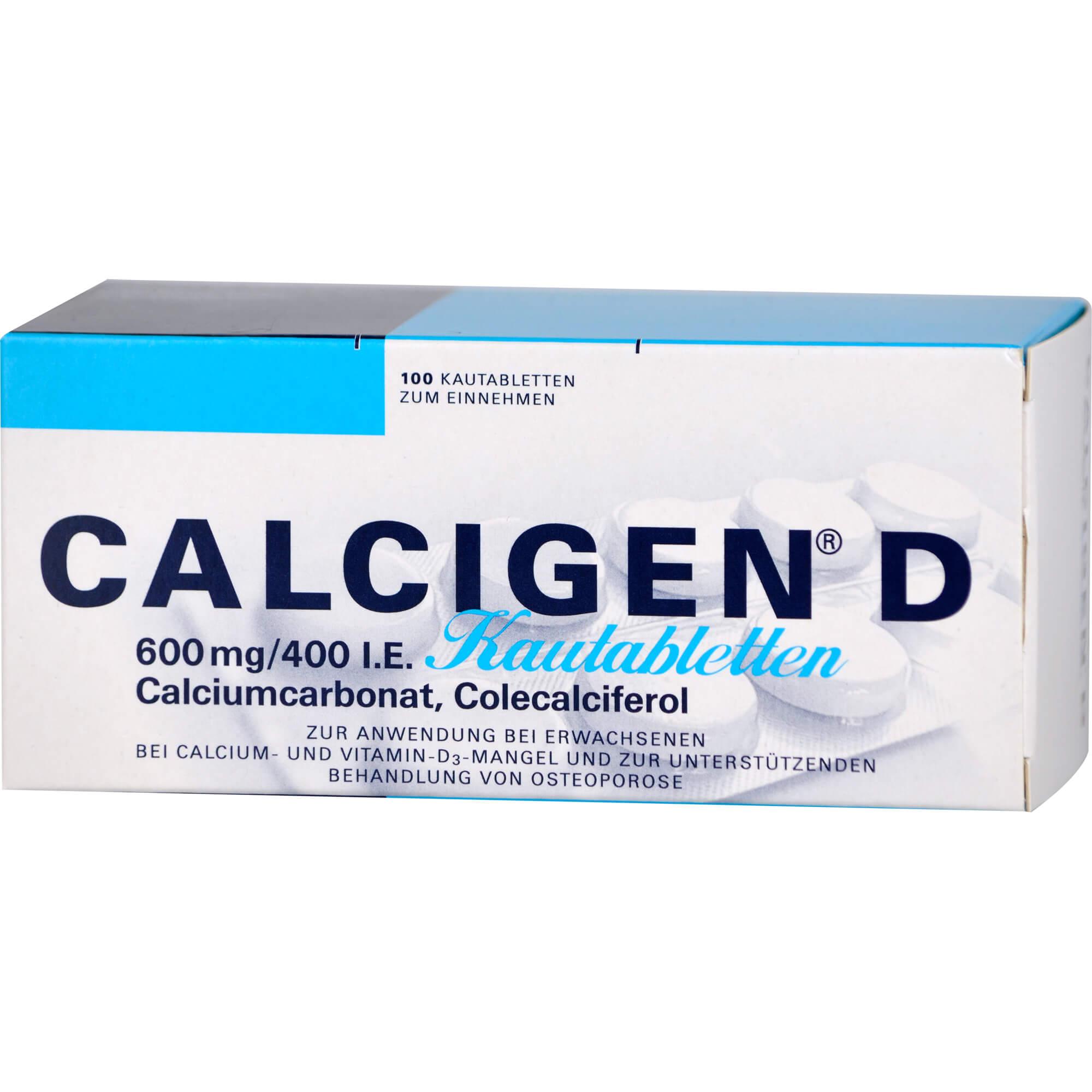 CALCIGEN D 600 mg/400 I.E. Kautabletten
