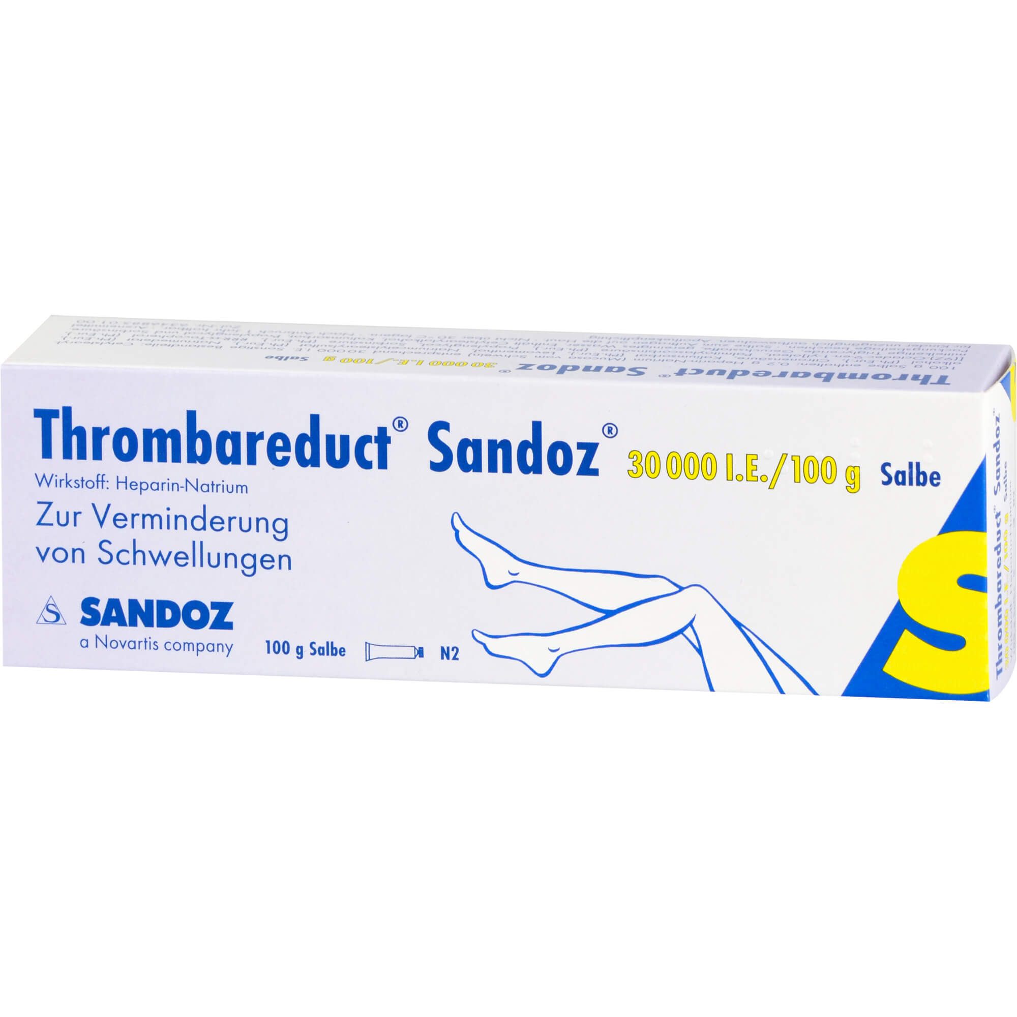 THROMBAREDUCT Sandoz 30.000 I.E. Salbe