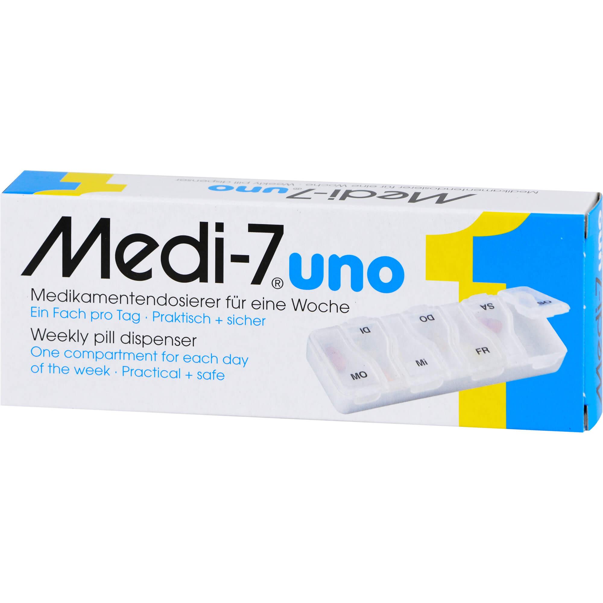 MEDI 7 uno Medikamentendosierer für 7 Tage weiß