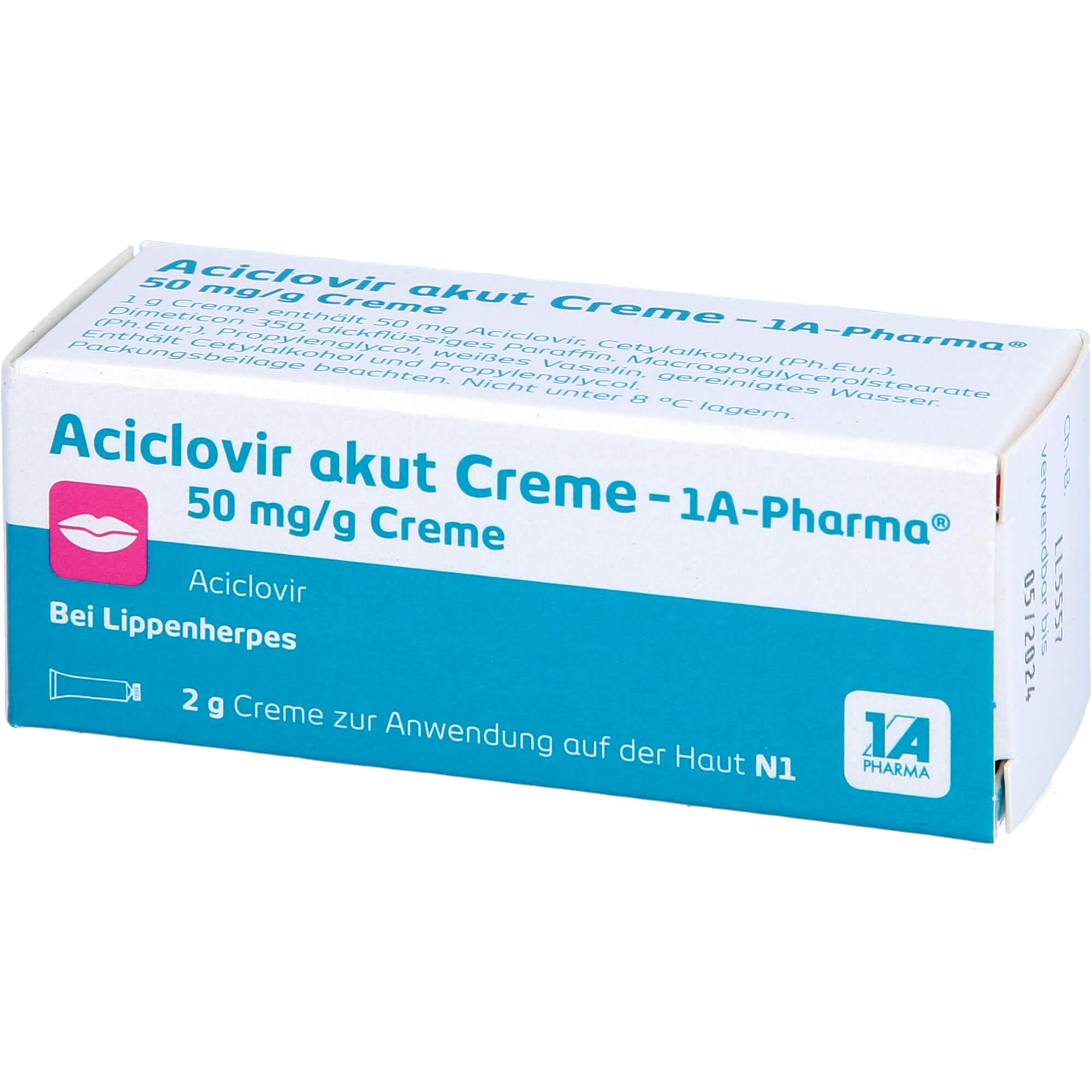 ACICLOVIR akut Creme-1A Pharma