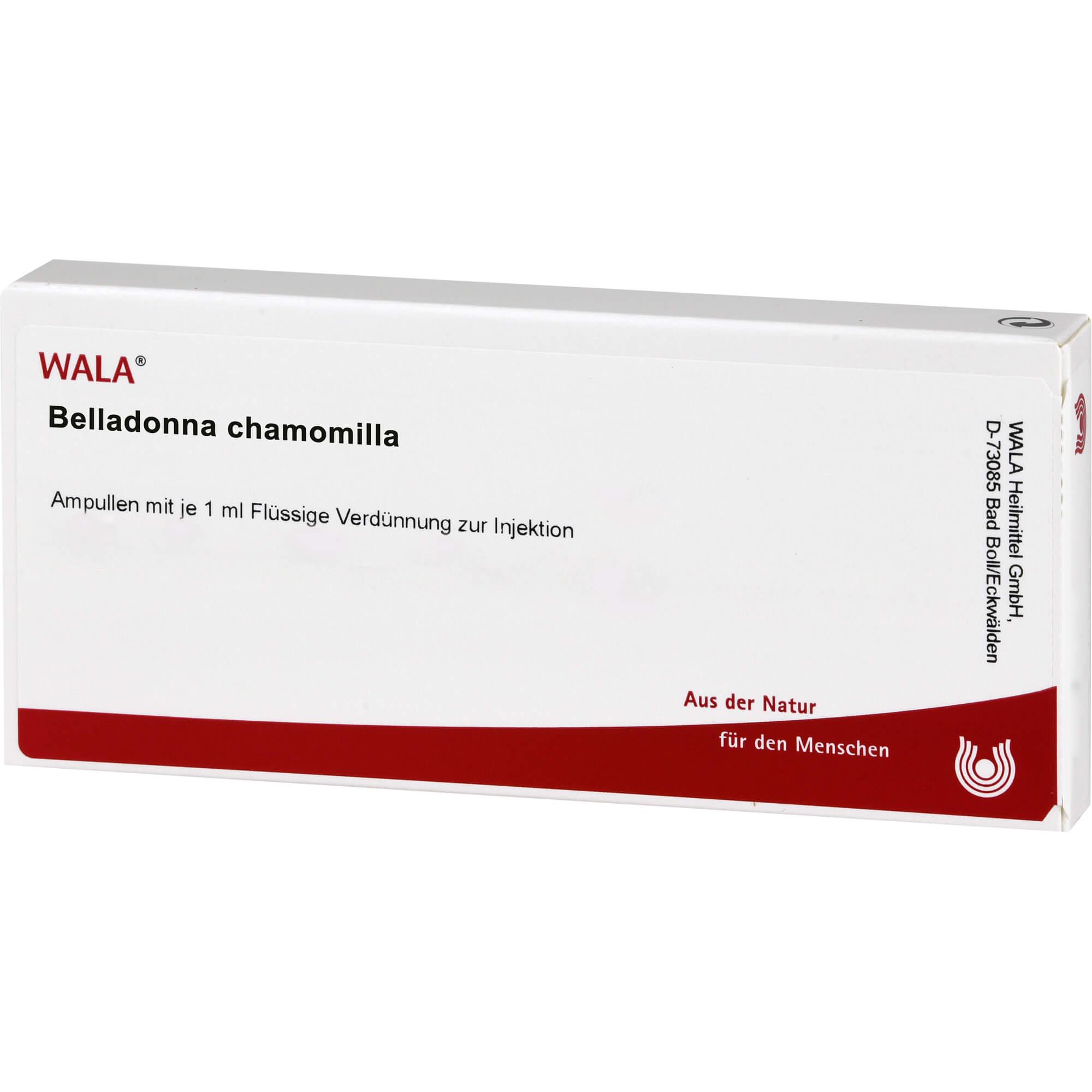 BELLADONNA CHAMOMILLA Ampullen