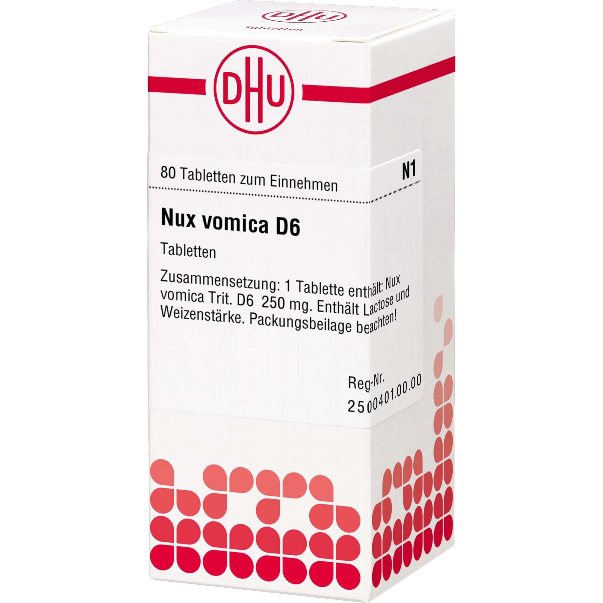 NUX VOMICA D 6 Tabletten