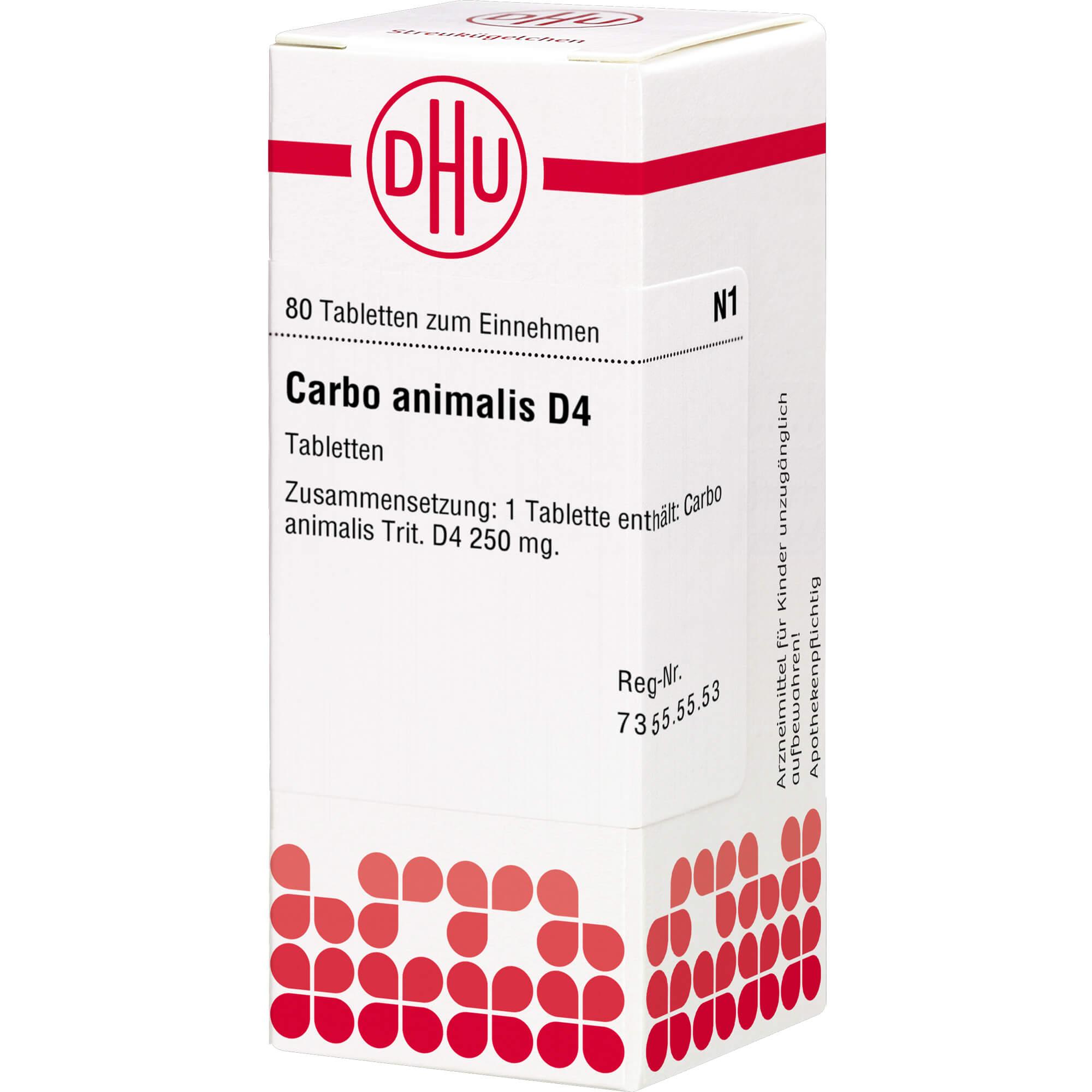 CARBO ANIMALIS D 4 Tabletten