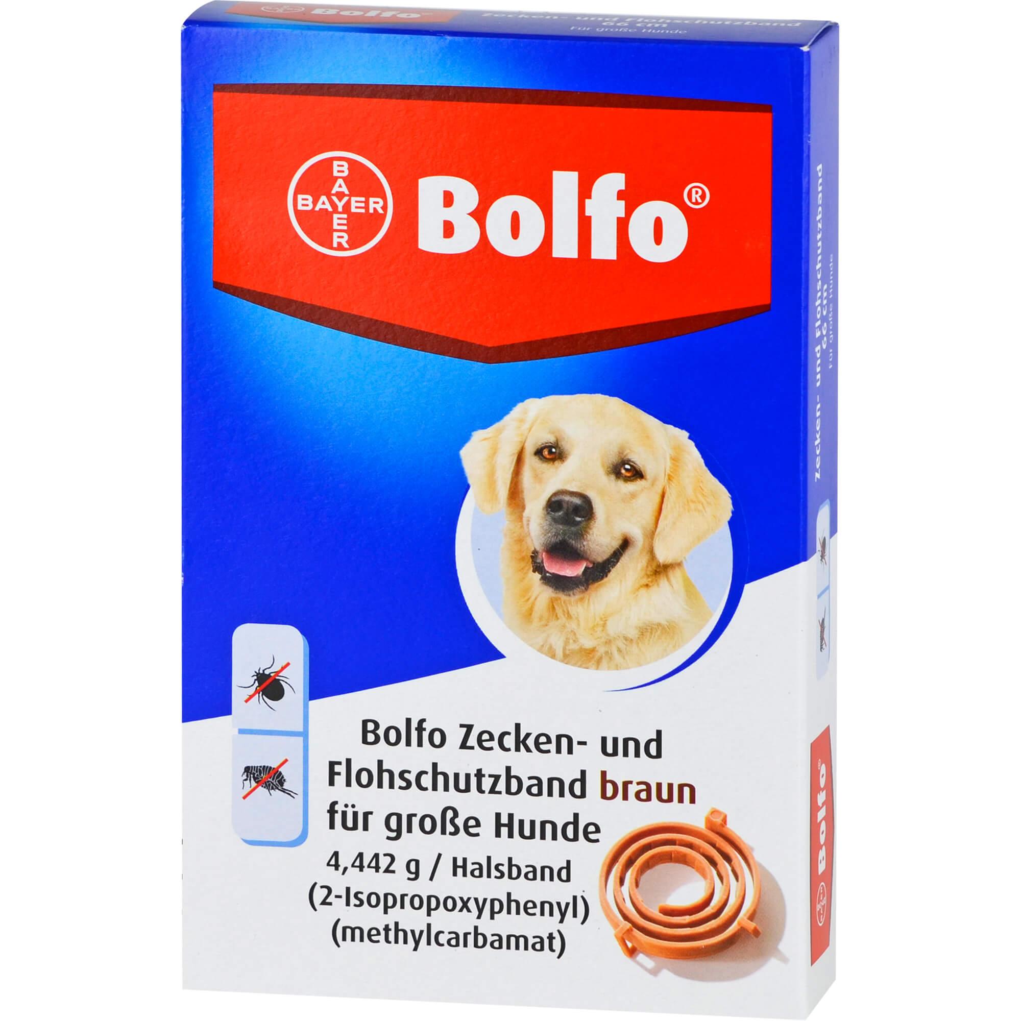 BOLFO Flohschutzband braun f.große Hunde