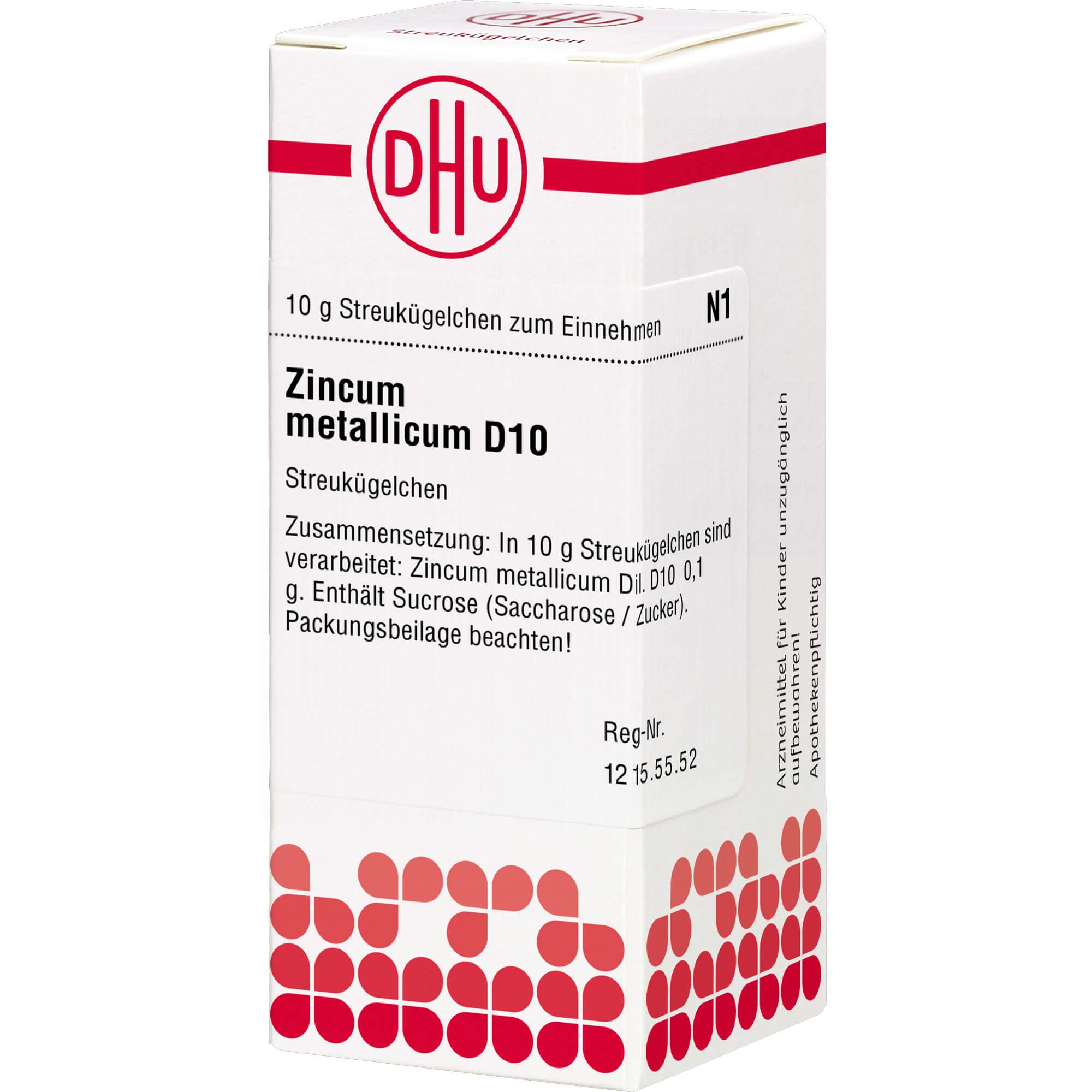 ZINCUM METALLICUM D 10 Globuli
