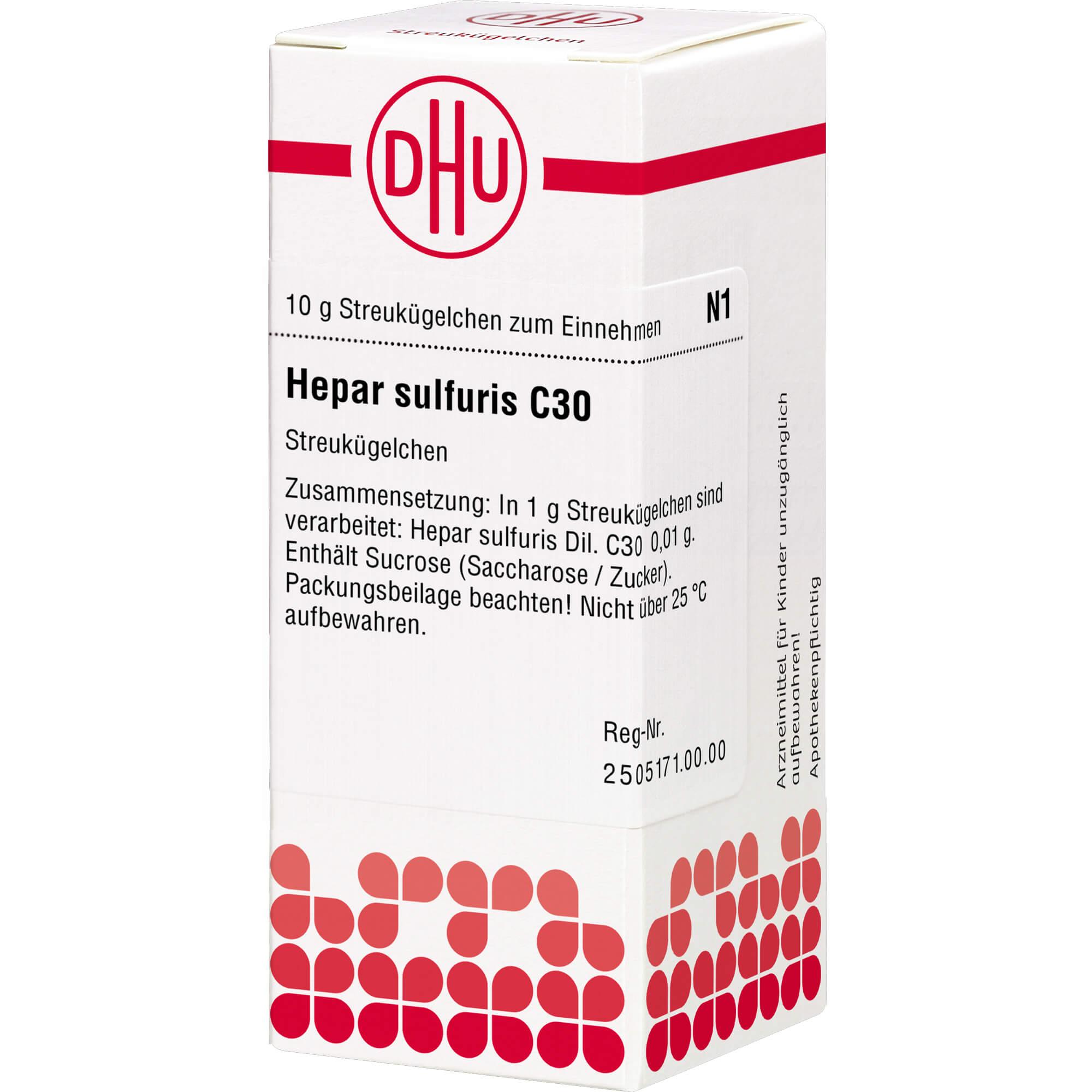 HEPAR SULFURIS C 30 Globuli