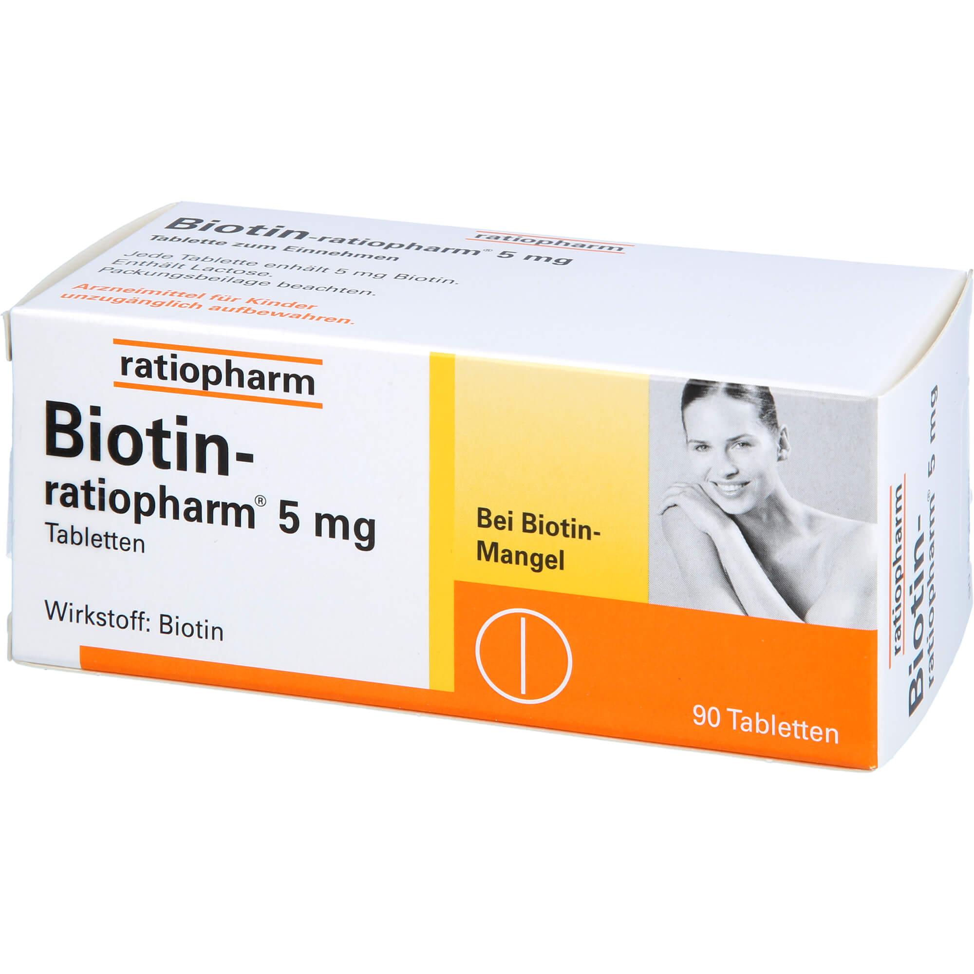 BIOTIN-RATIOPHARM 5 mg Tabletten