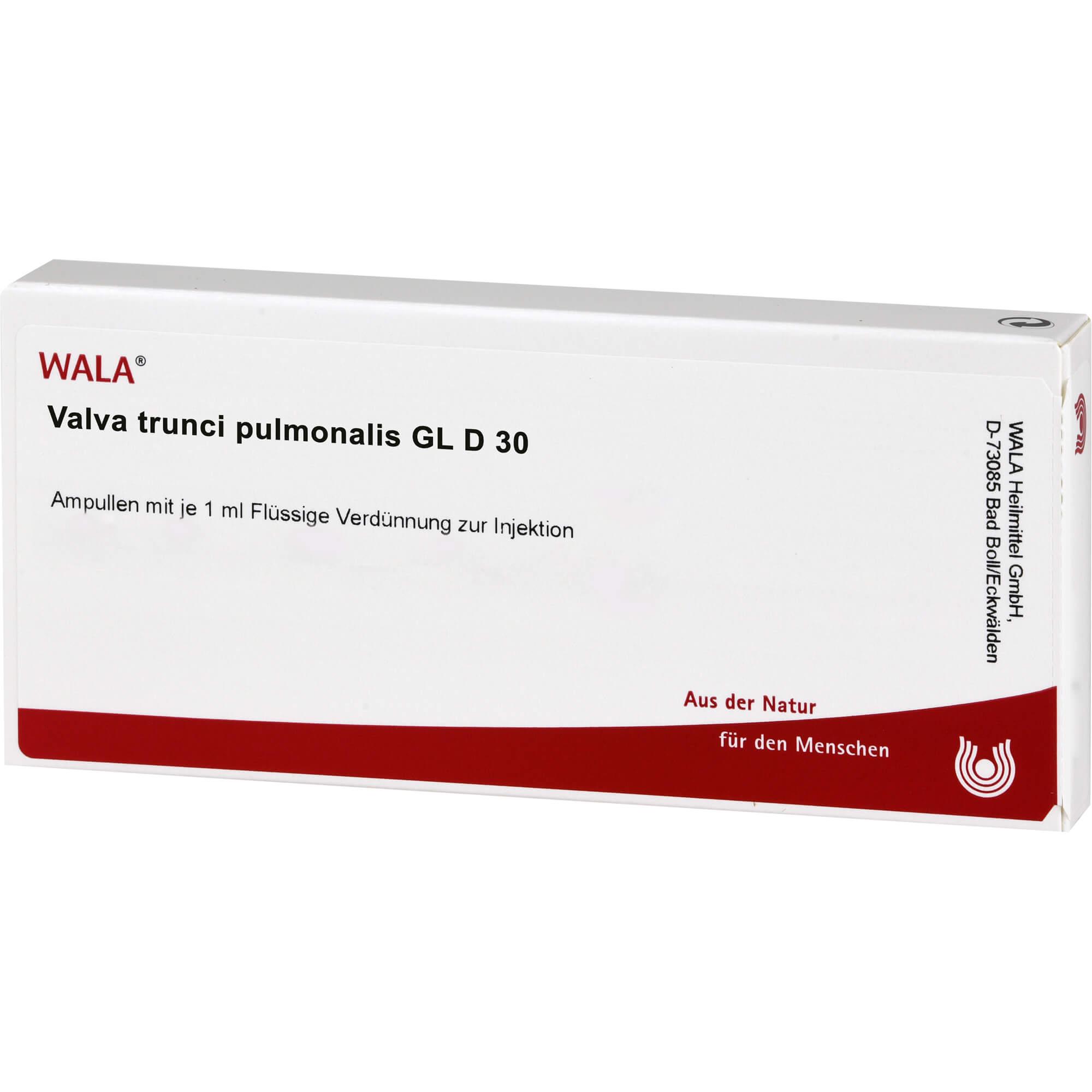 VALVA trunci pulmonalis GL D 30 Ampullen