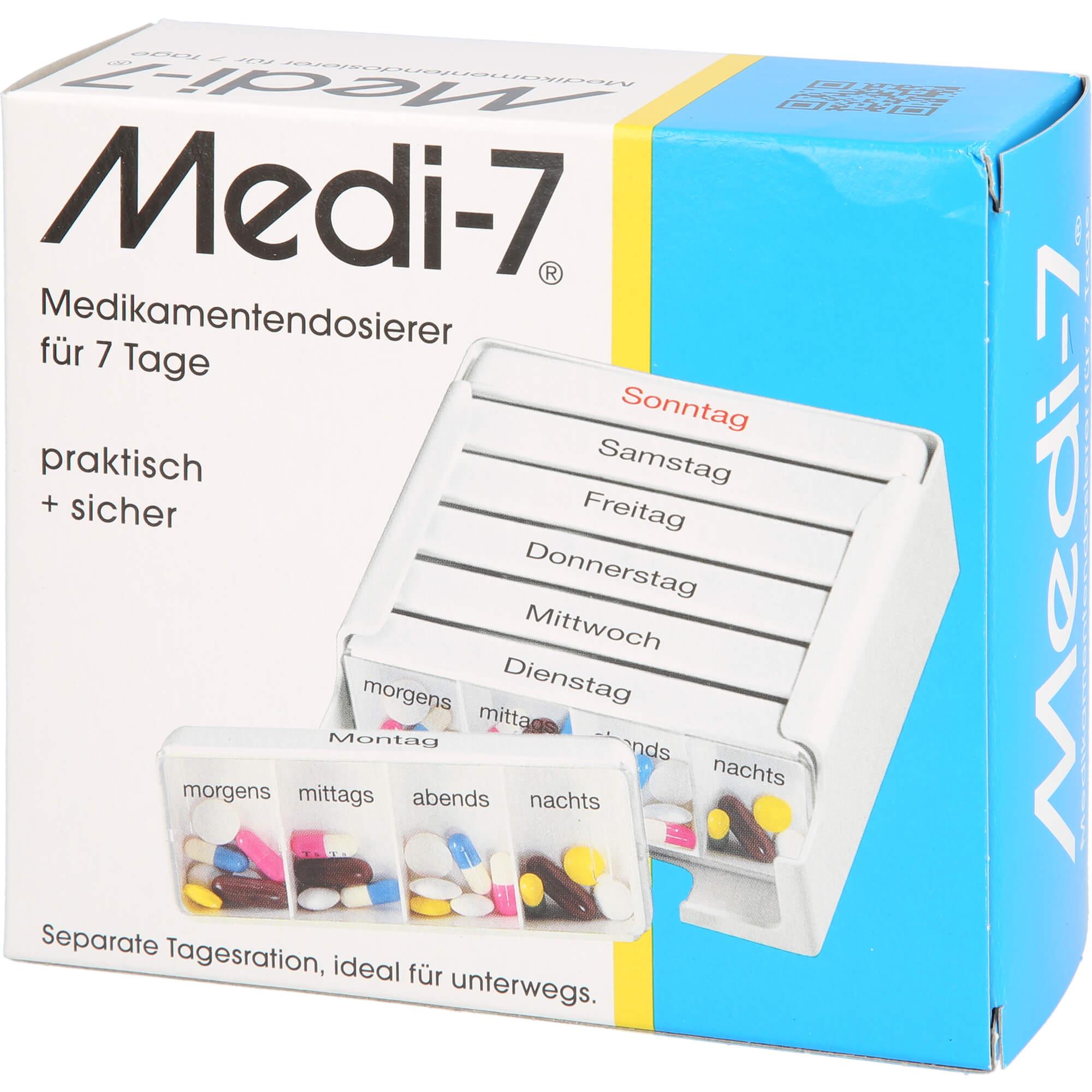MEDI 7 Medikamentendosierer für 7 Tage, weiß
