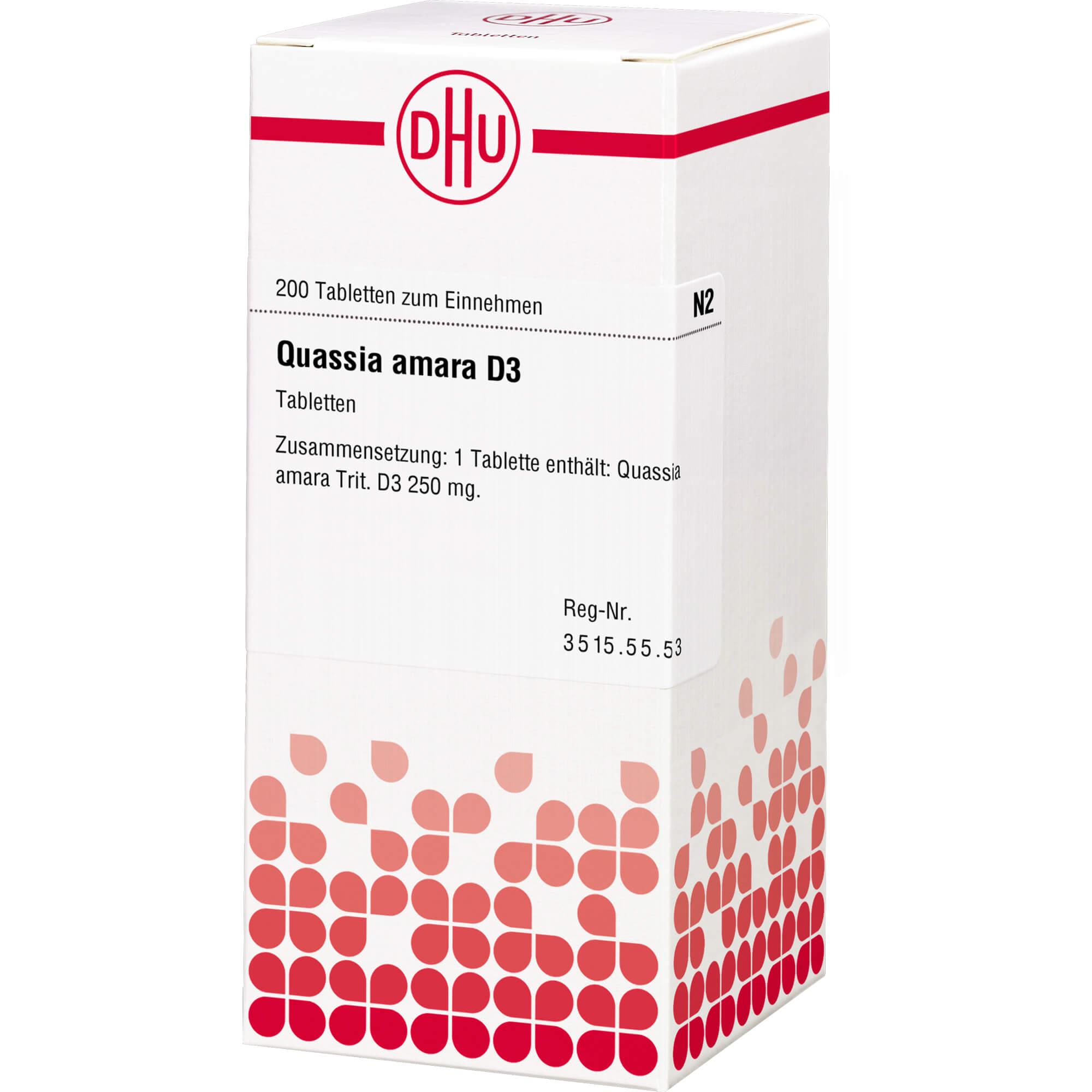 QUASSIA D 3 Tabletten