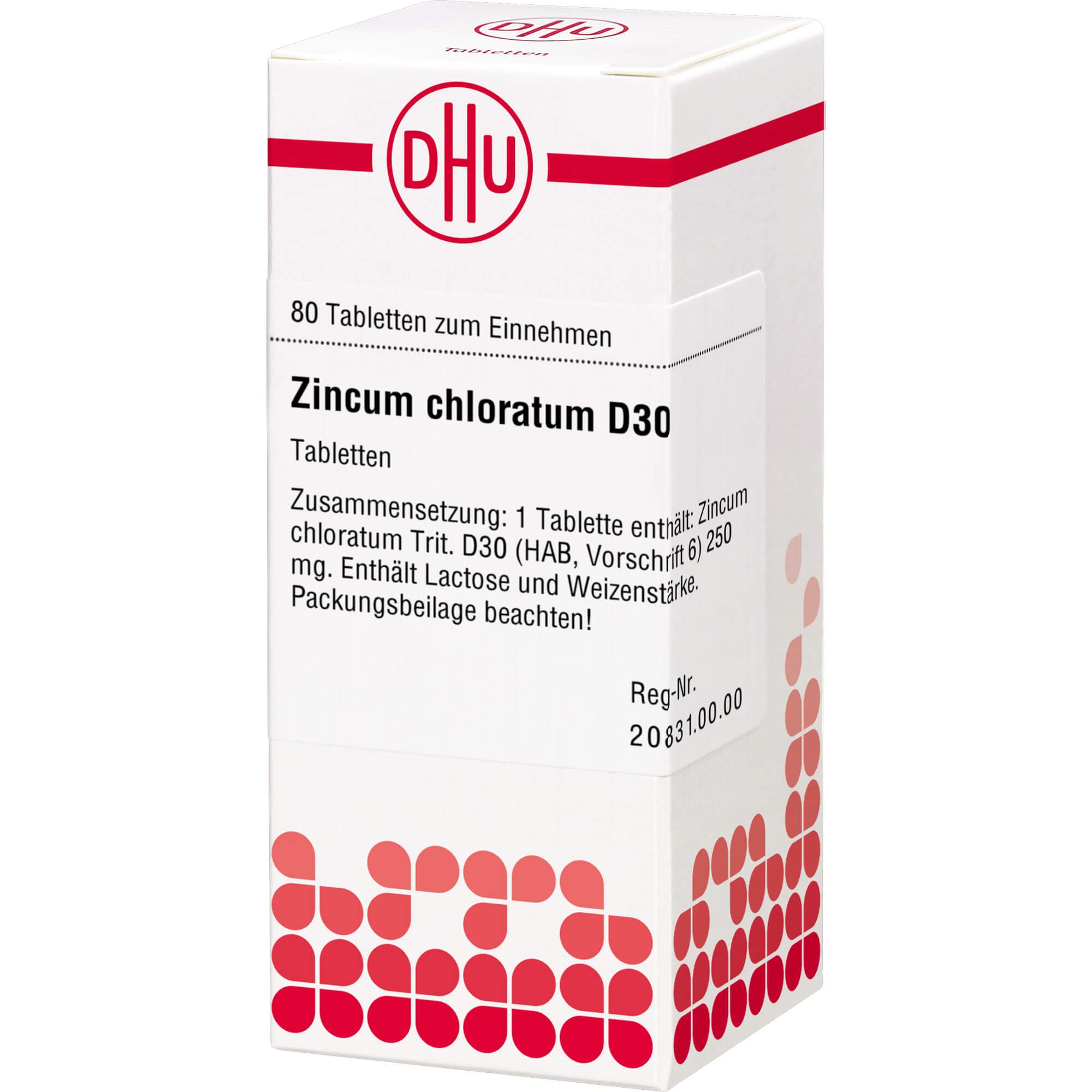 ZINCUM CHLORATUM D 30 Tabletten