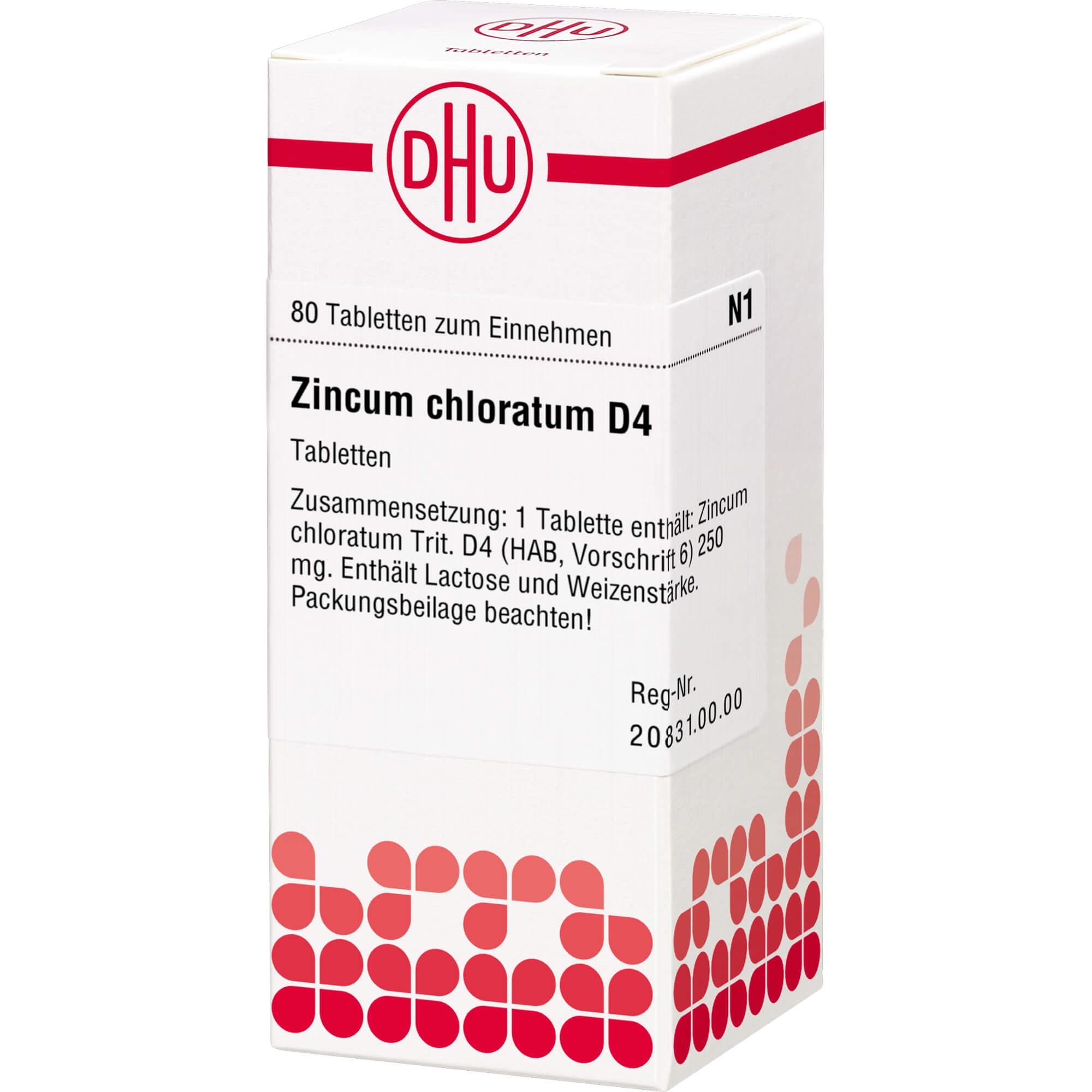 ZINCUM CHLORATUM D 4 Tabletten