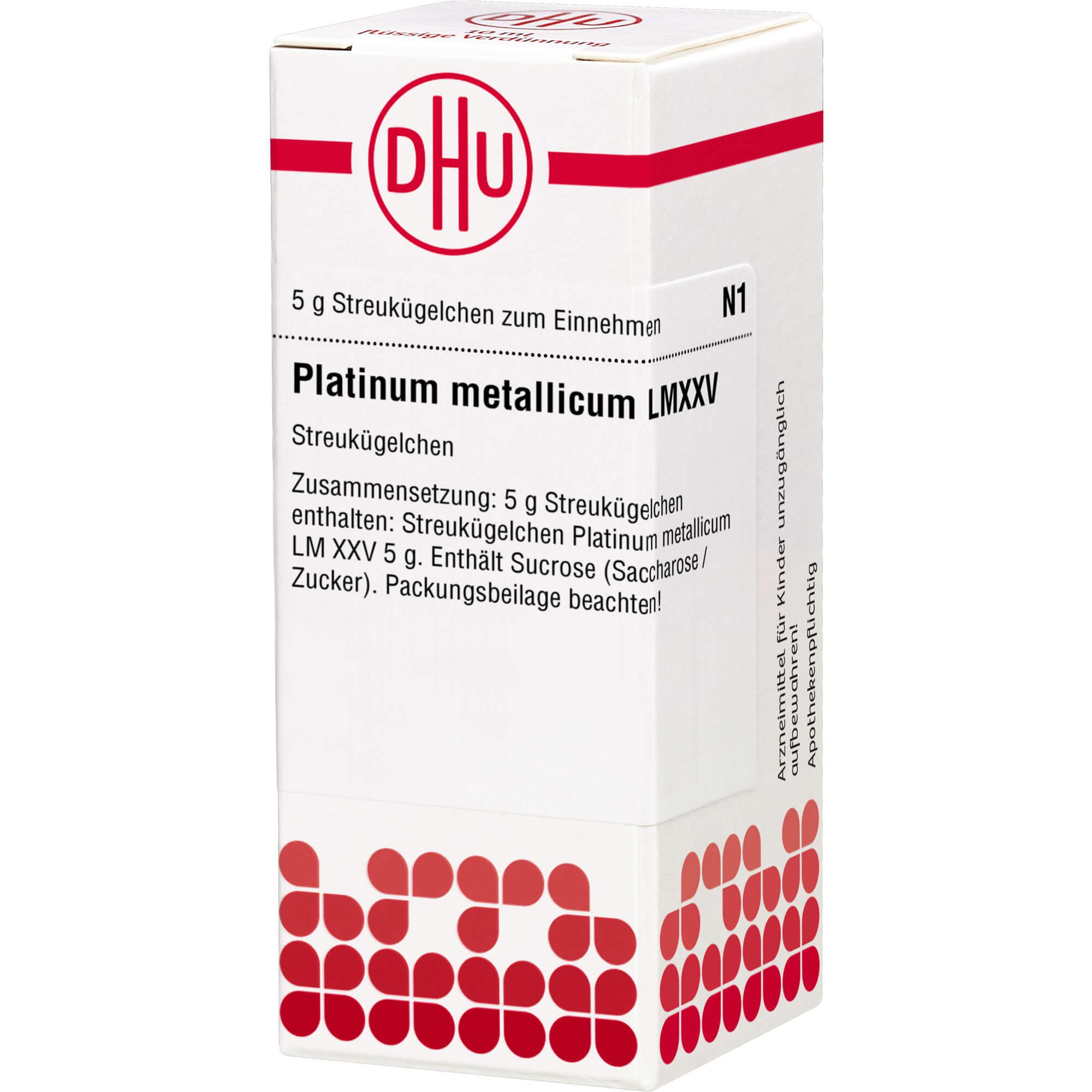 LM PLATINUM metallicum XXV Globuli