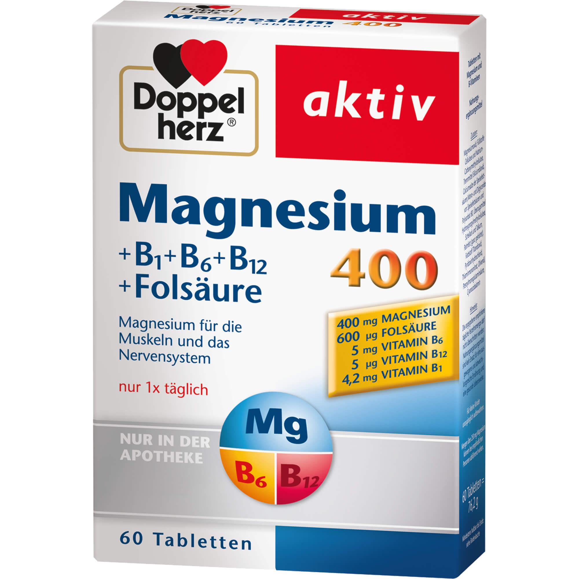 DOPPELHERZ Magnesium 400 mg Tabletten