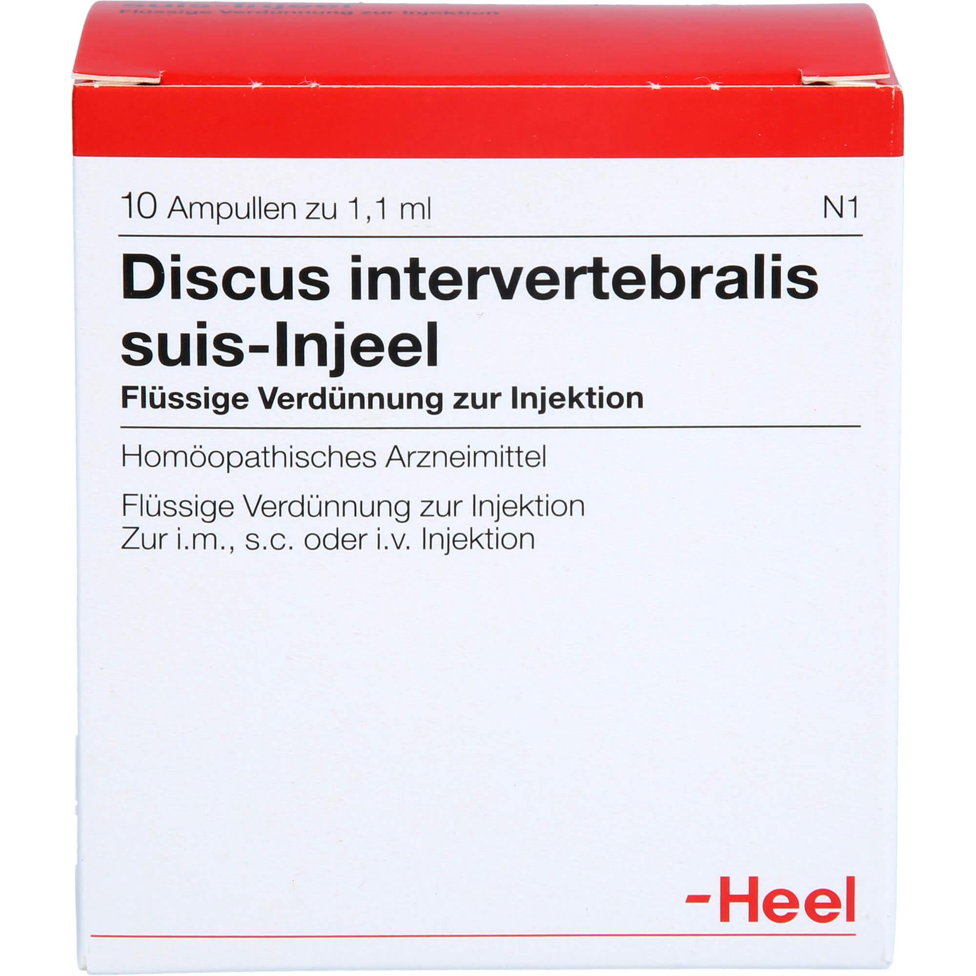 DISCUS INTERVERTEBRALIS suis Injeel Ampullen