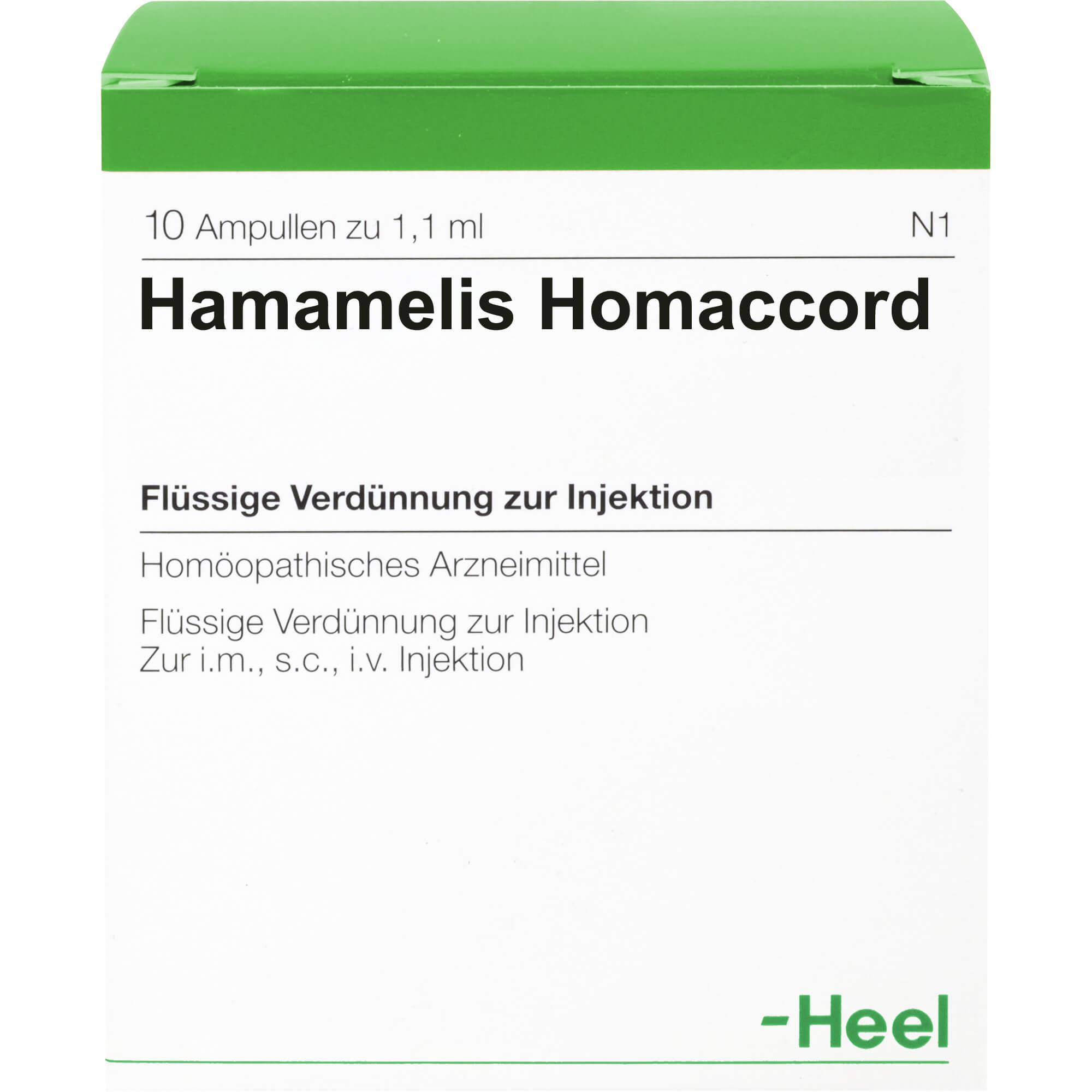 HAMAMELIS HOMACCORD Ampullen
