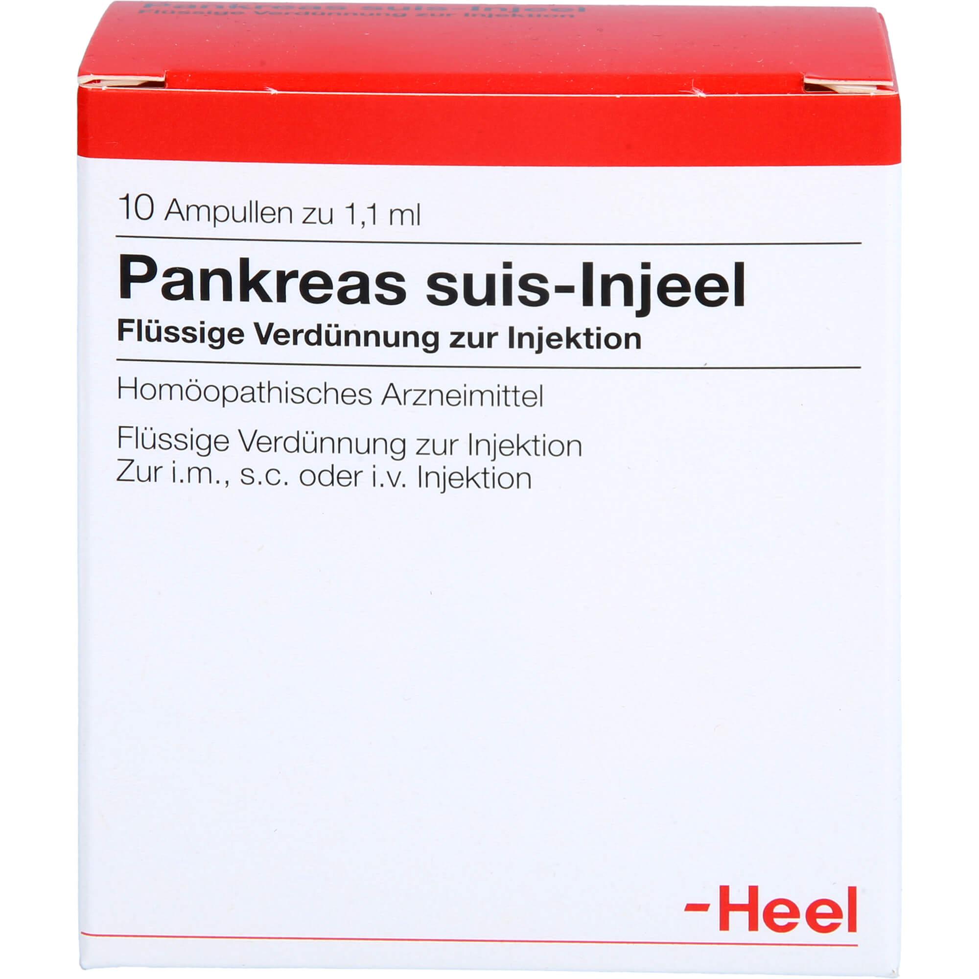 PANKREAS SUIS Injeel Ampullen