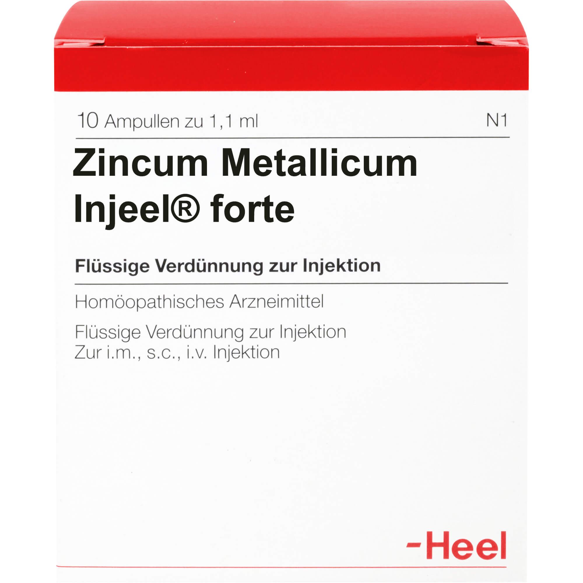 ZINCUM METALLICUM INJEEL forte Ampullen
