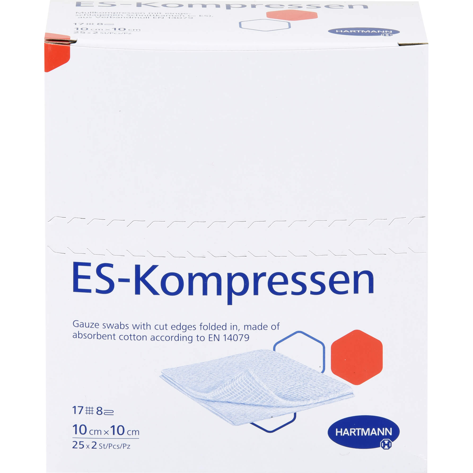 ES-KOMPRESSEN steril 10x10 cm 8fach
