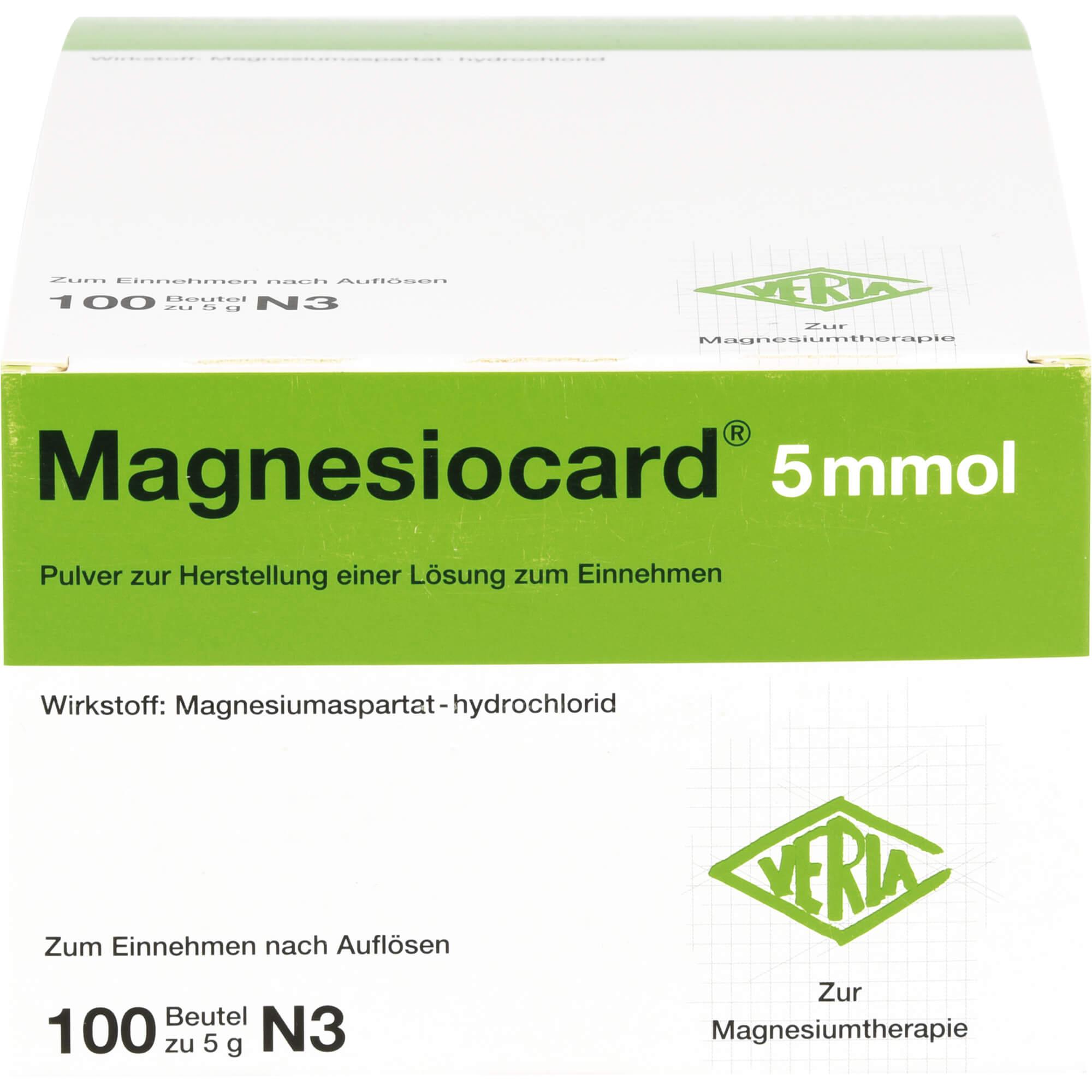 MAGNESIOCARD 5 mmol Plv.z.Her.e.Lsg.z.Einnehmen