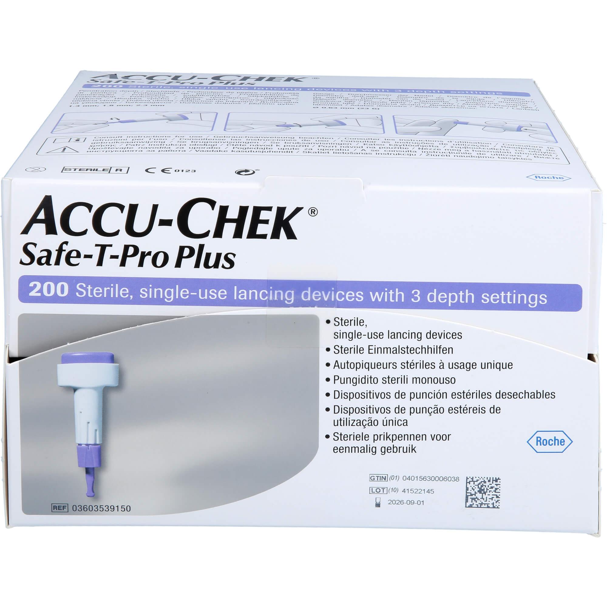 ACCU-CHEK Safe T Pro Plus Lanzetten
