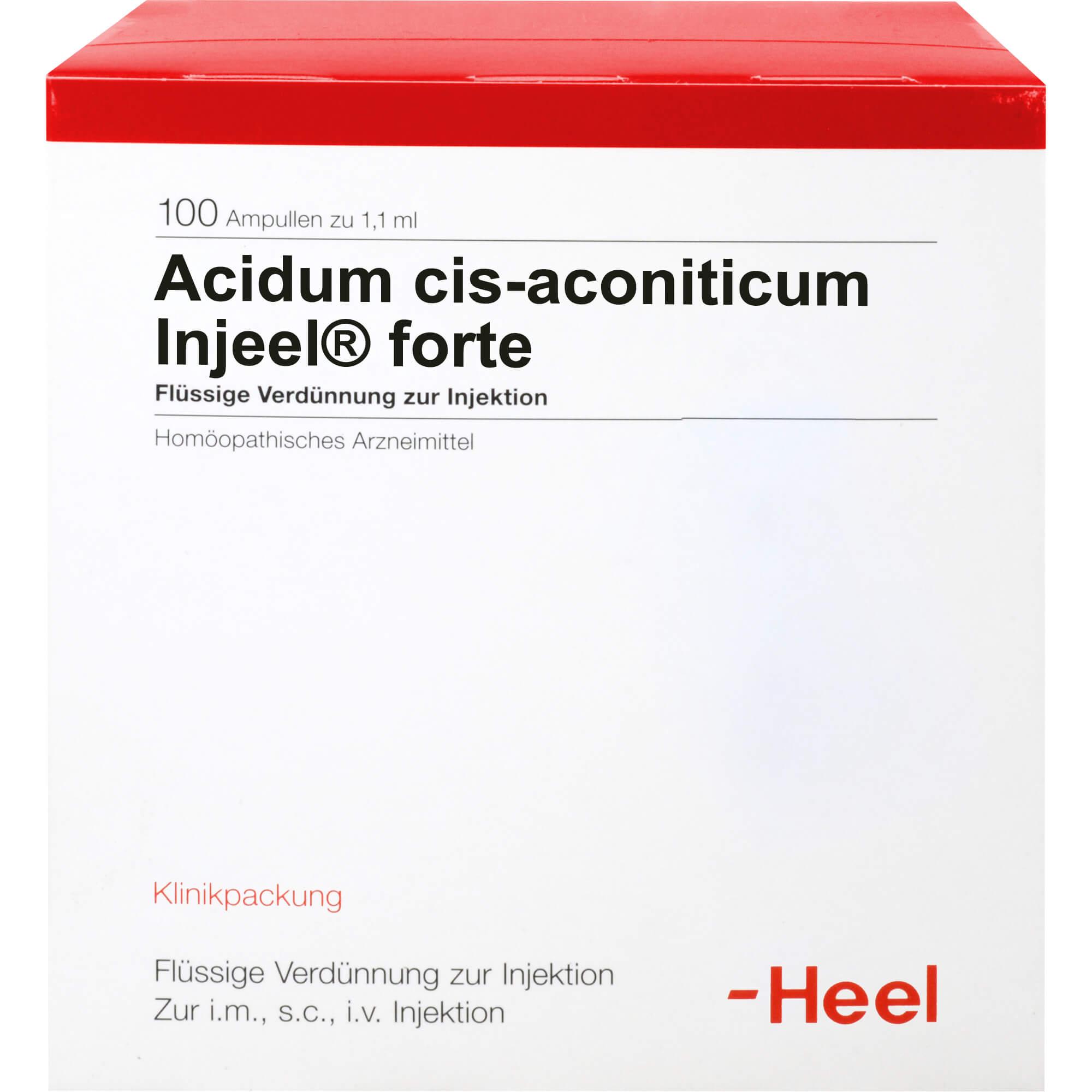 ACIDUM CIS-aconiticum Injeel forte Ampullen