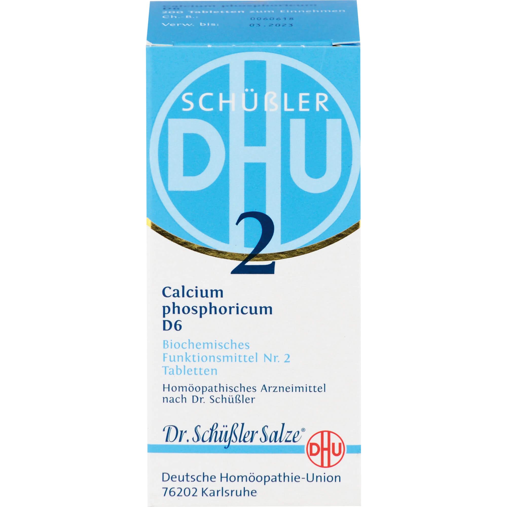 BIOCHEMIE DHU 2 Calcium phosphoricum D 6 Tabletten
