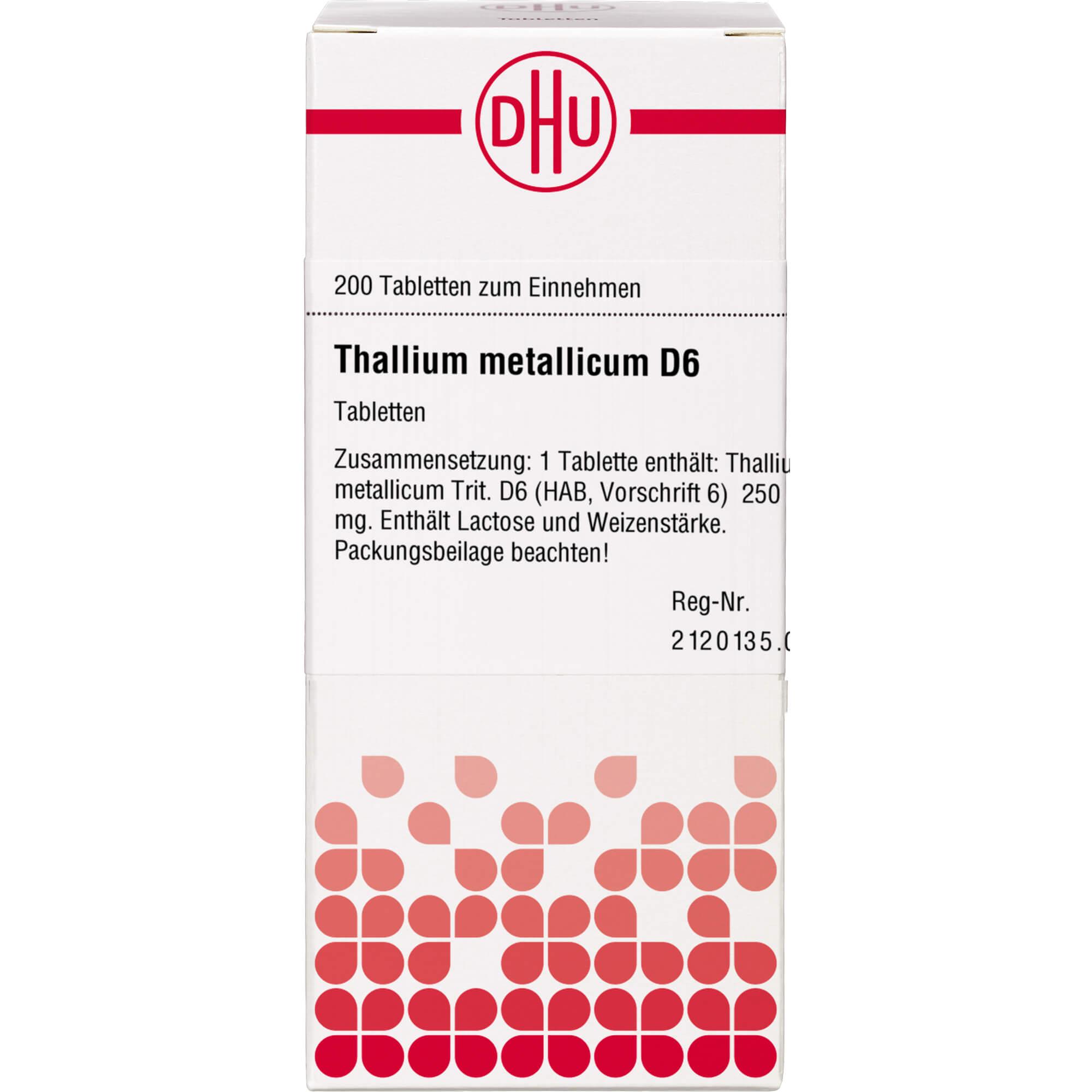 THALLIUM METALLICUM D 6 Tabletten