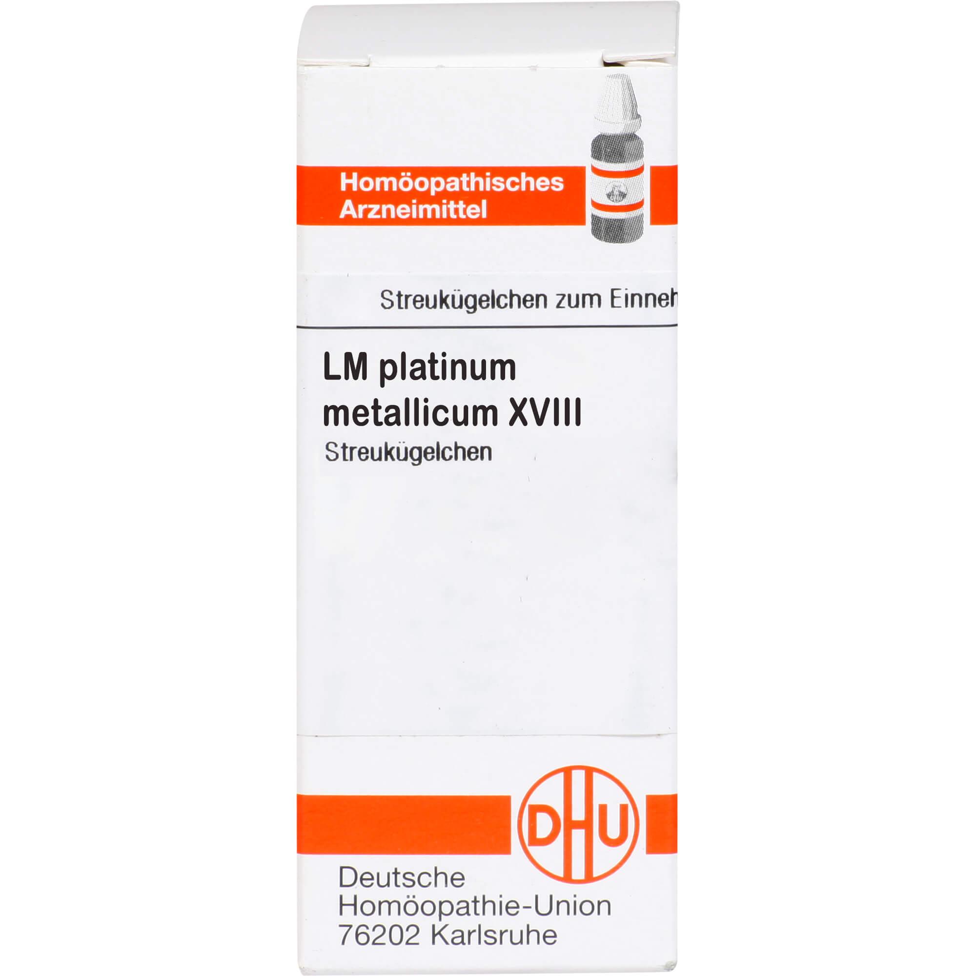 LM PLATINUM metallicum XVIII Globuli
