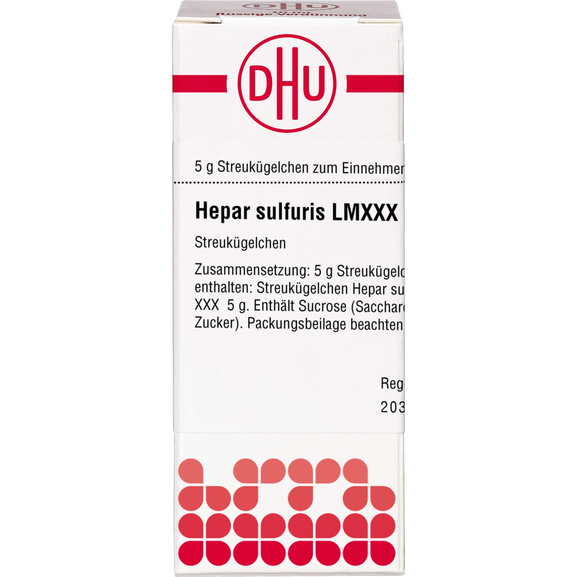 LM HEPAR sulfuris XXX Globuli