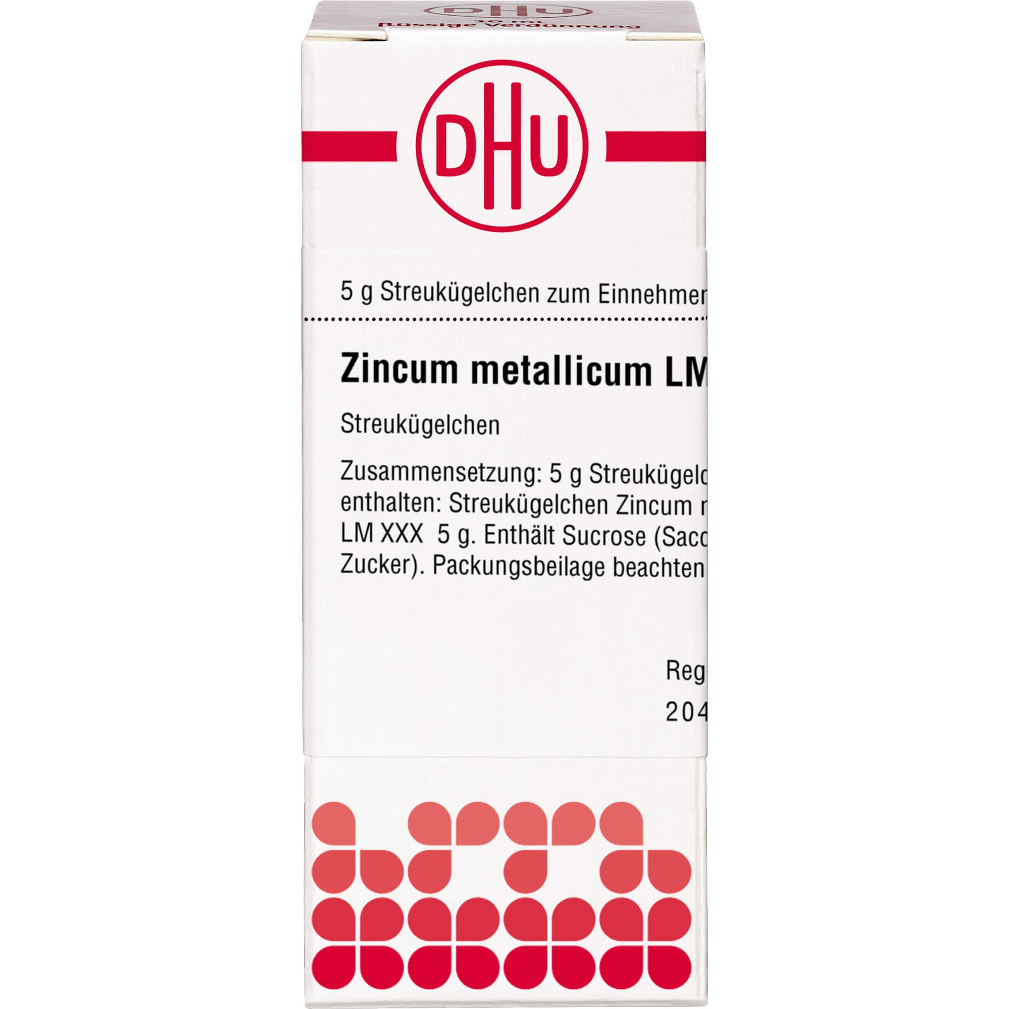 LM ZINCUM metallicum XXX Globuli