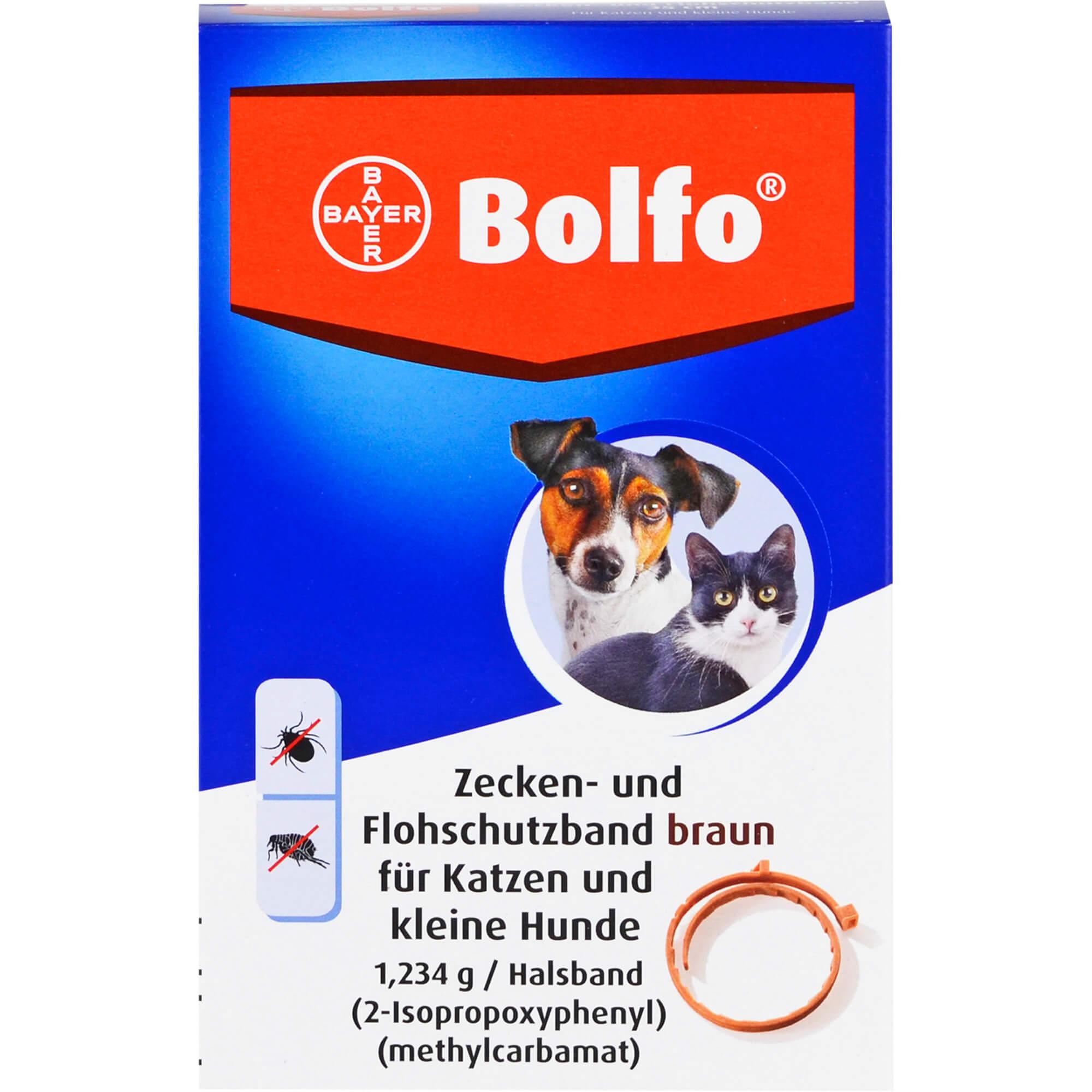 BOLFO Flohschutzband braun f.kleine Hunde/Katzen