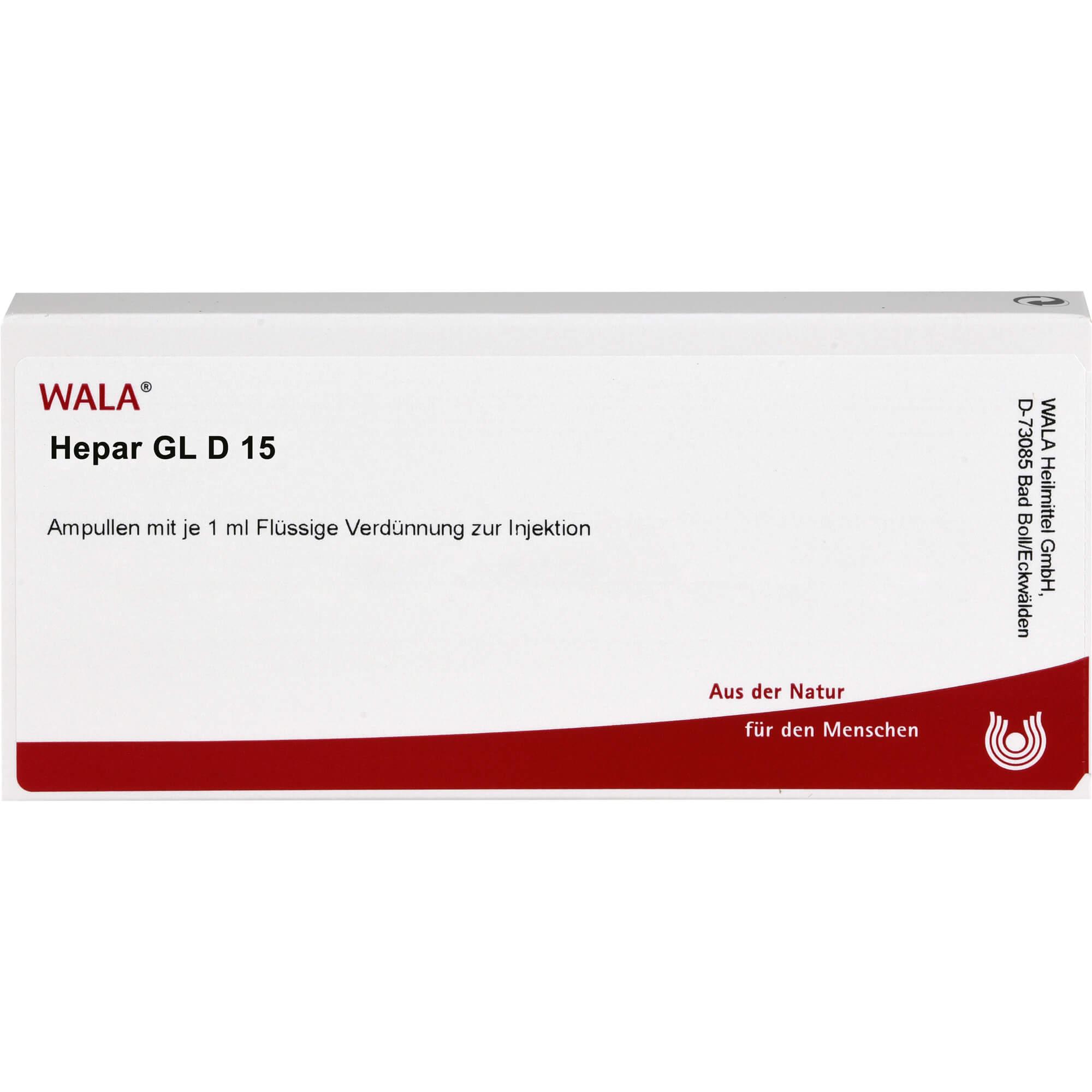 HEPAR GL D 15 Ampullen