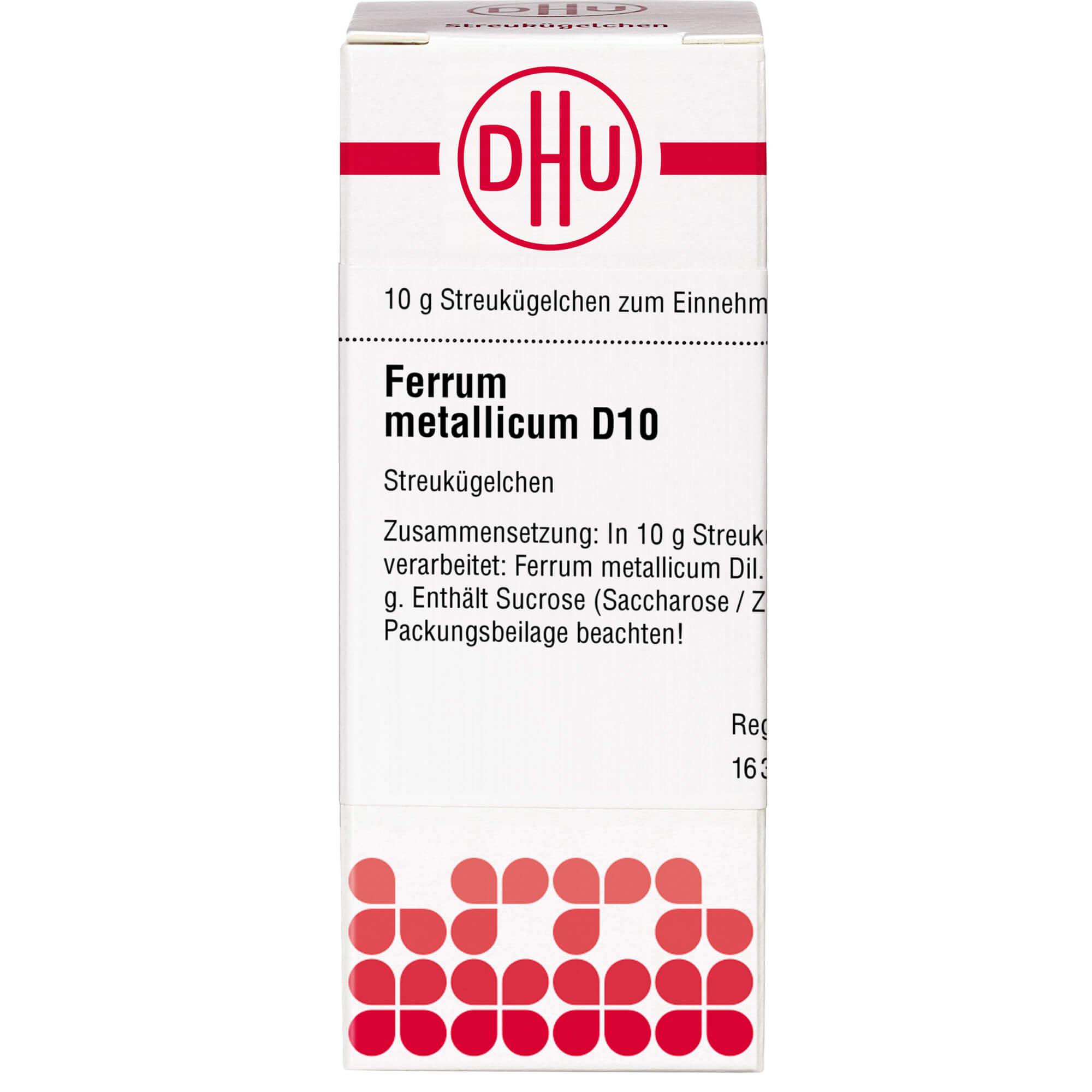 FERRUM METALLICUM D 10 Globuli