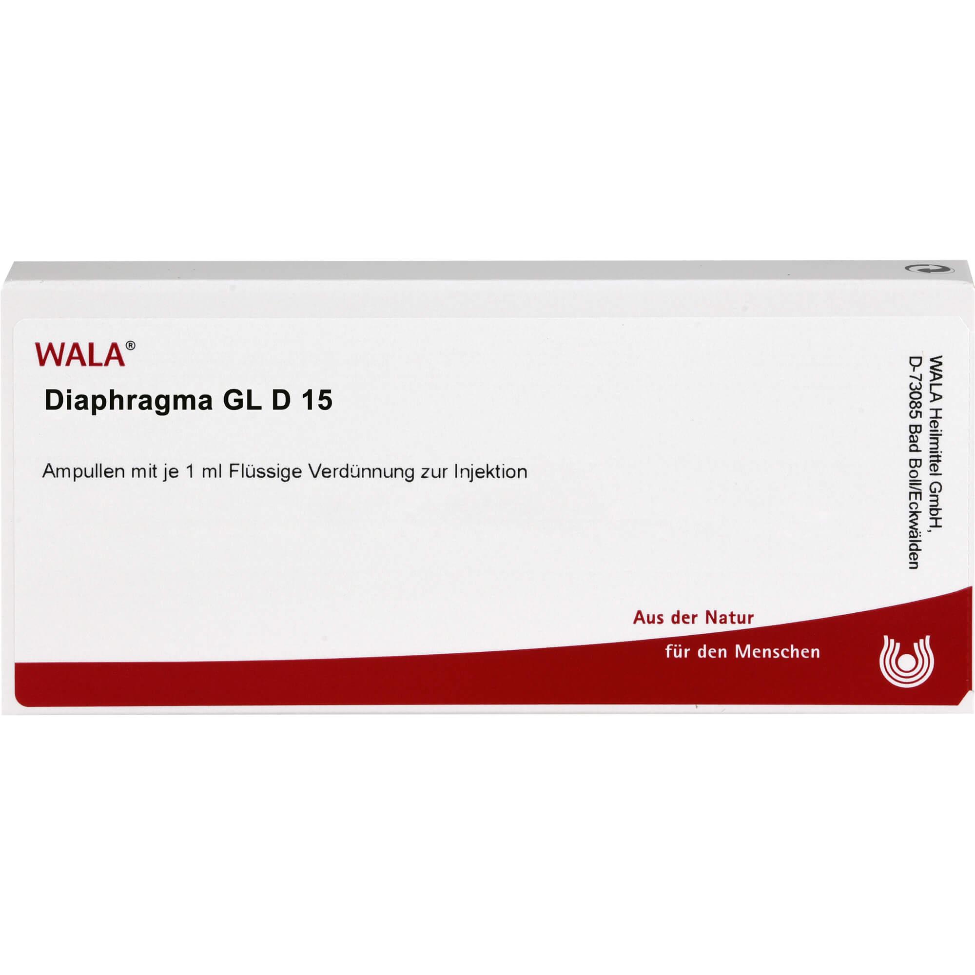 DIAPHRAGMA GL D 15 Ampullen