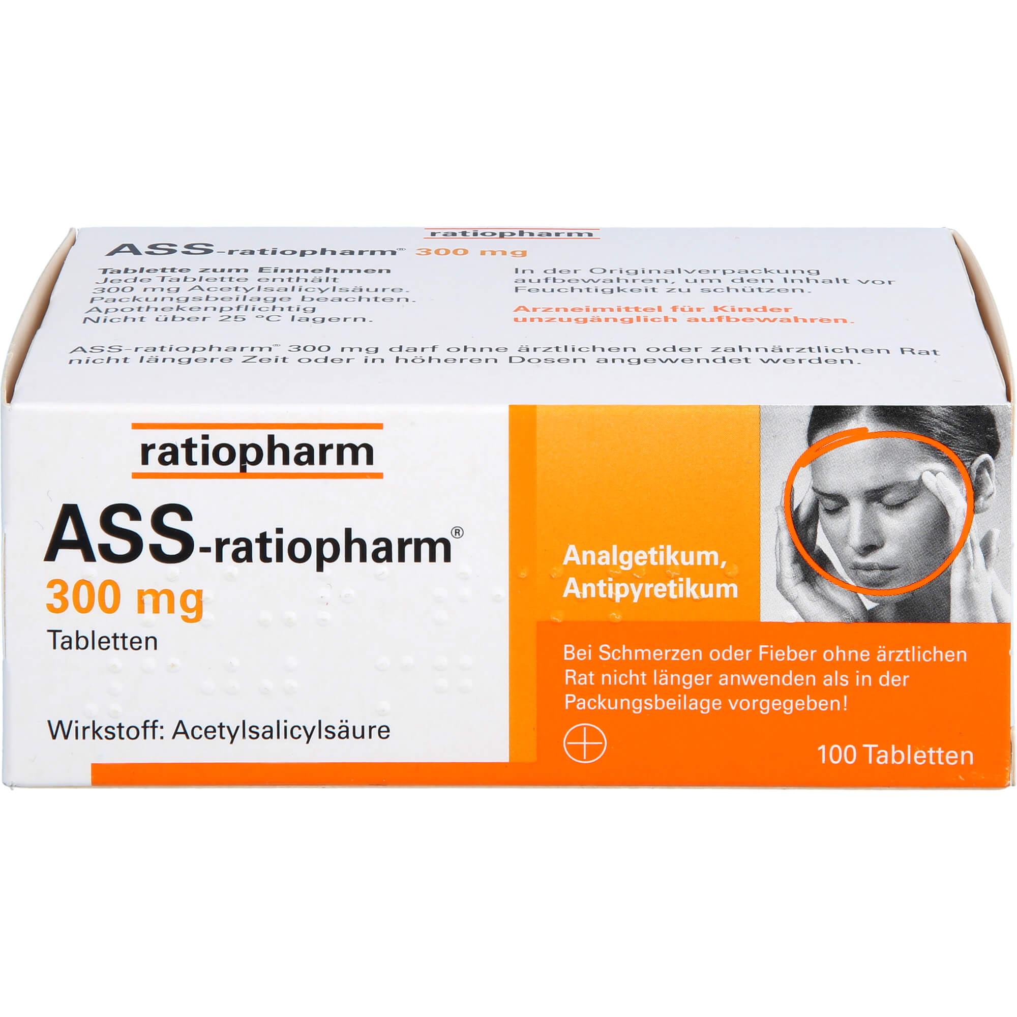 ASS-ratiopharm 300 mg Tabletten