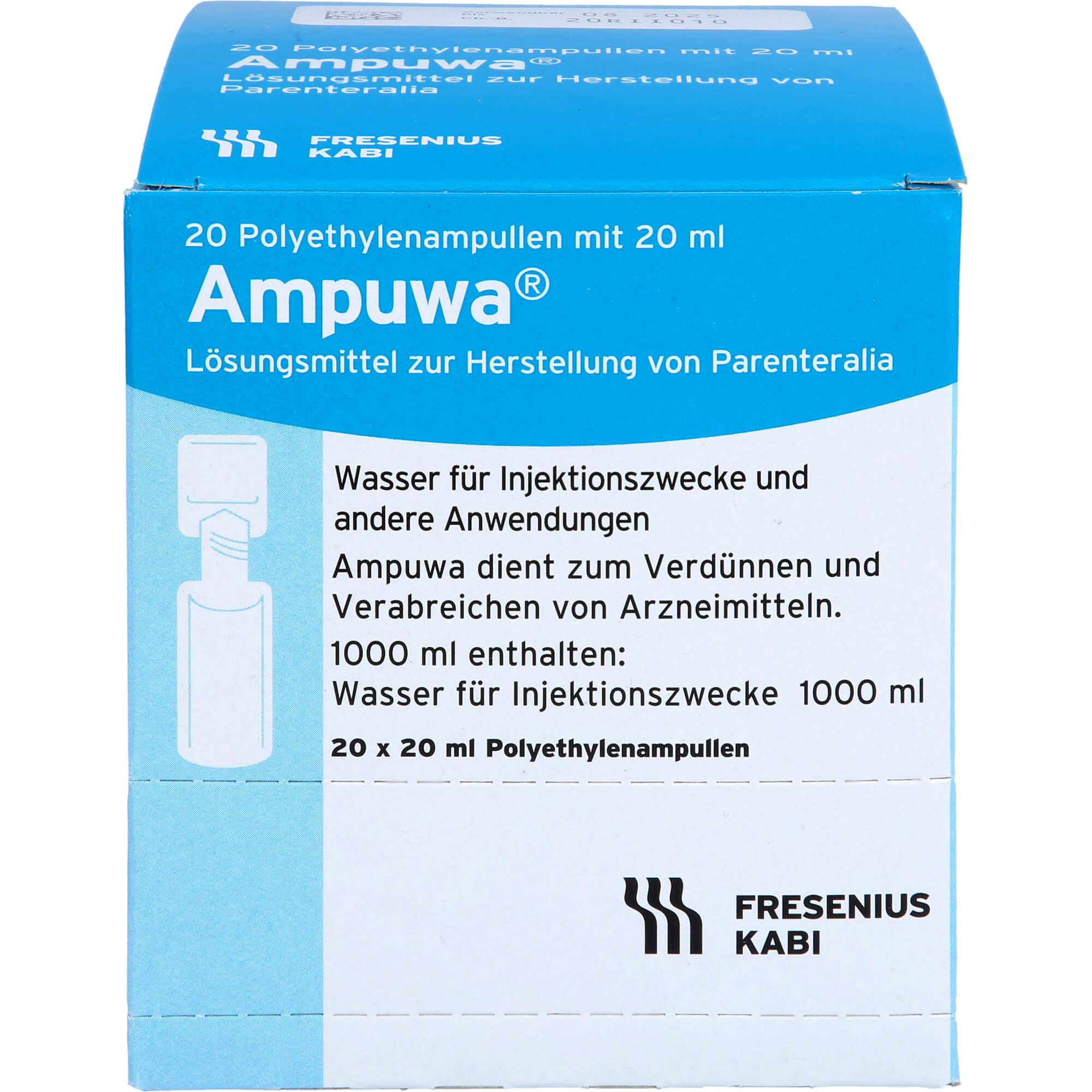 AMPUWA Plastikampullen Injektions-/Infusionslsg.
