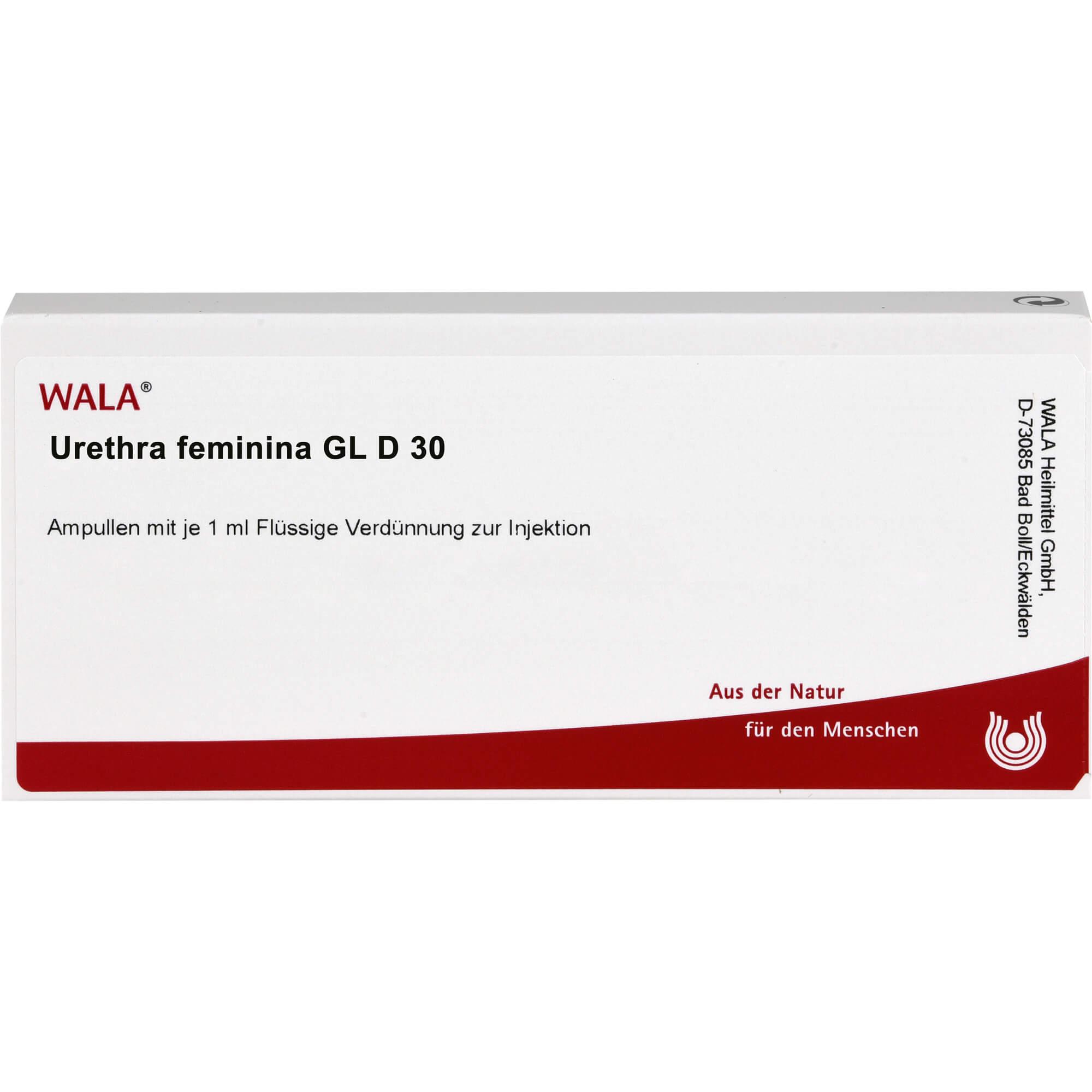 URETHRA feminina GL D 30 Ampullen