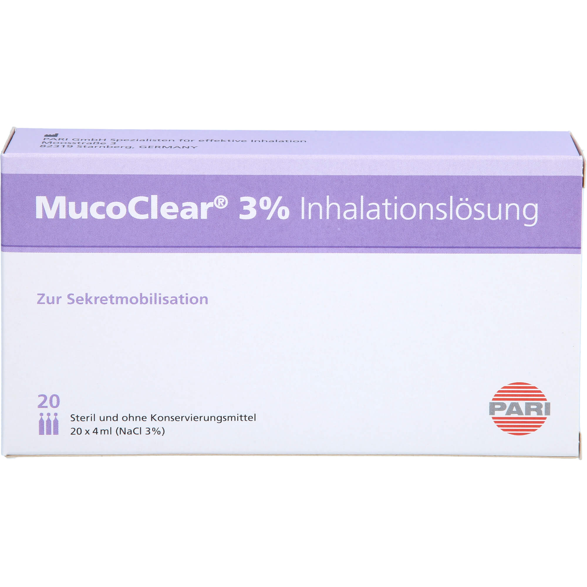MUCOCLEAR 3% NaCl Inhalationslösung