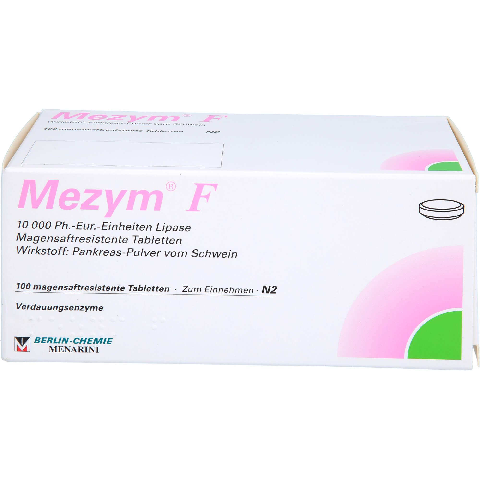 MEZYM F magensaftresistente Tabletten
