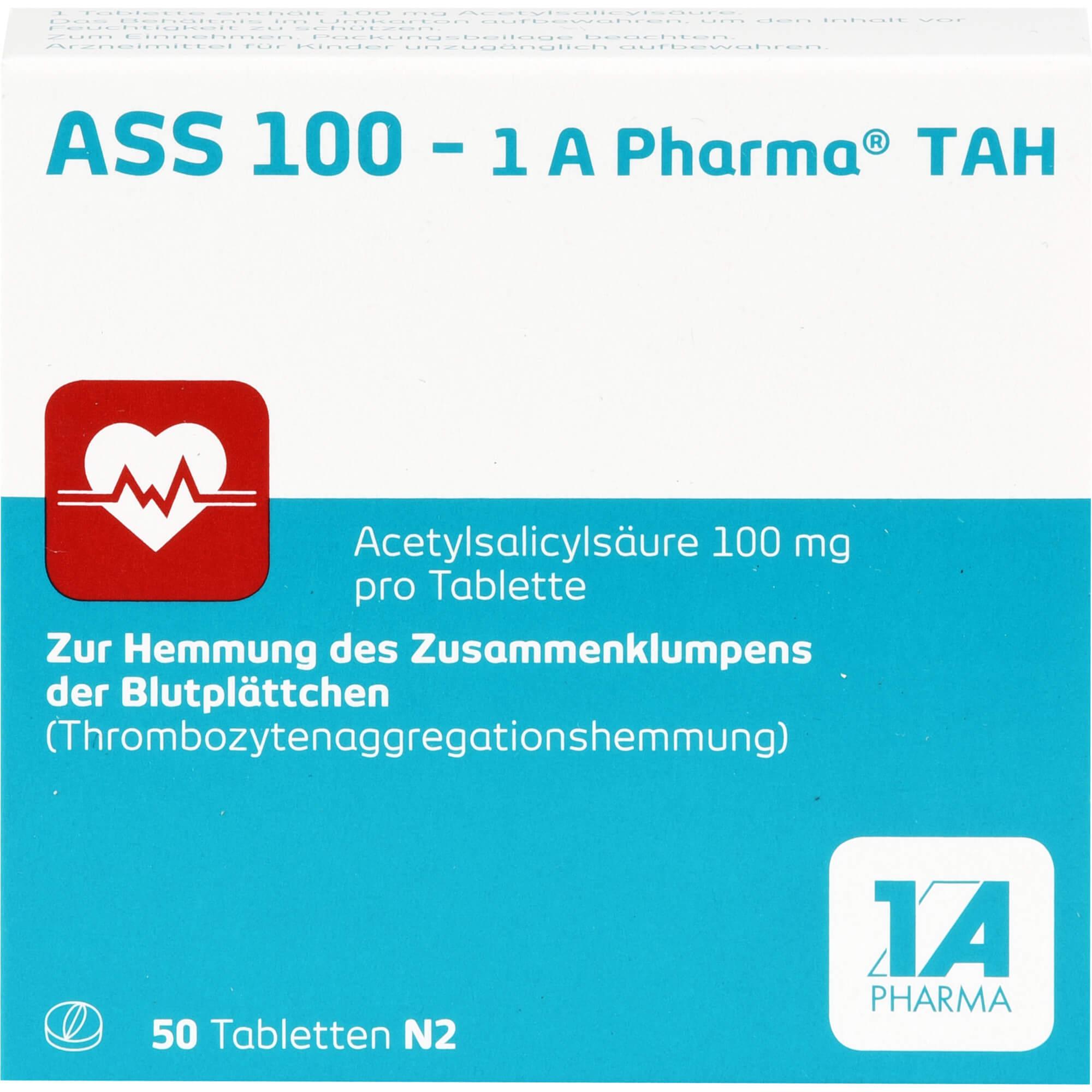 ASS 100-1A Pharma TAH Tabletten