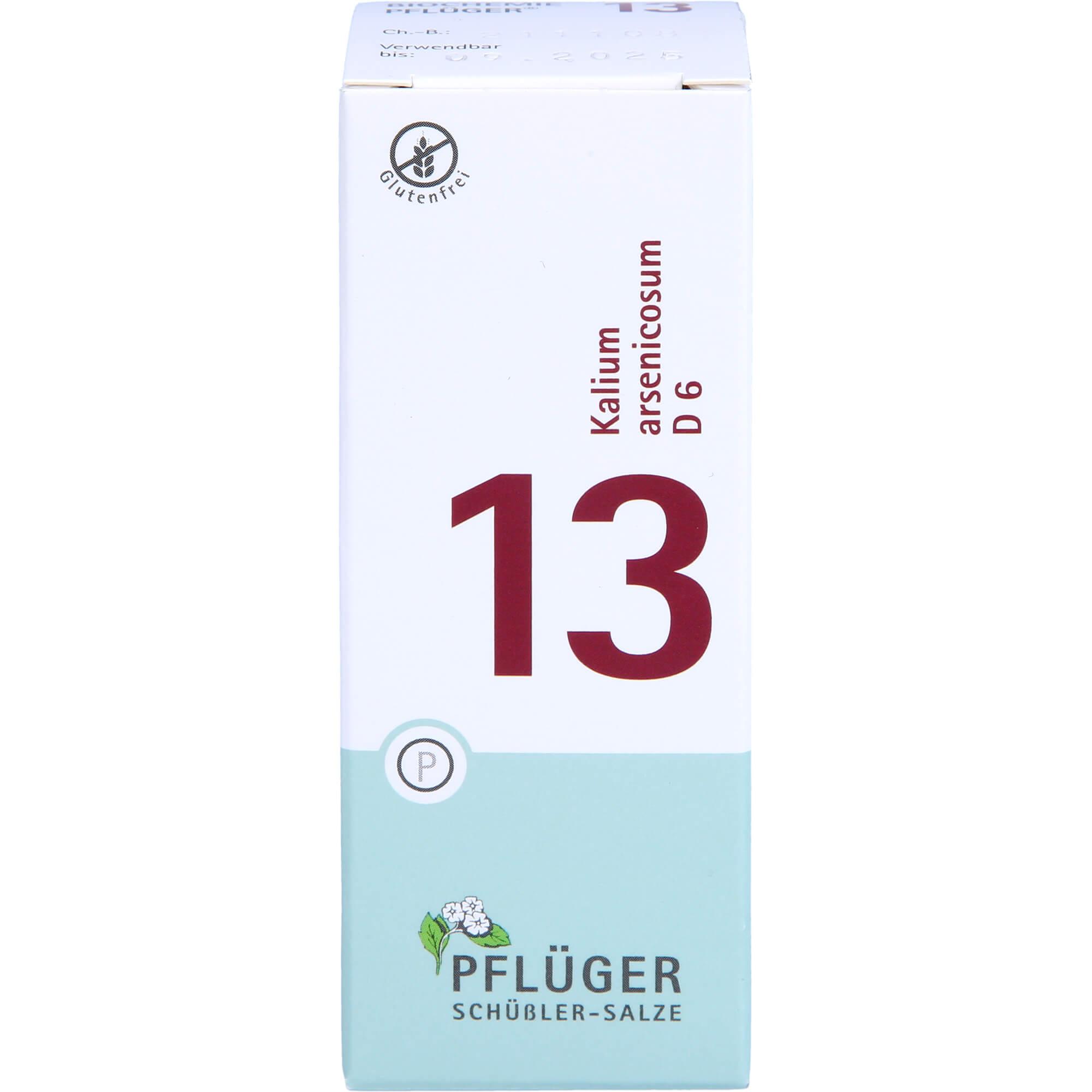 BIOCHEMIE Pflüger 13 Kalium arsenicosum D 6 Tabl.