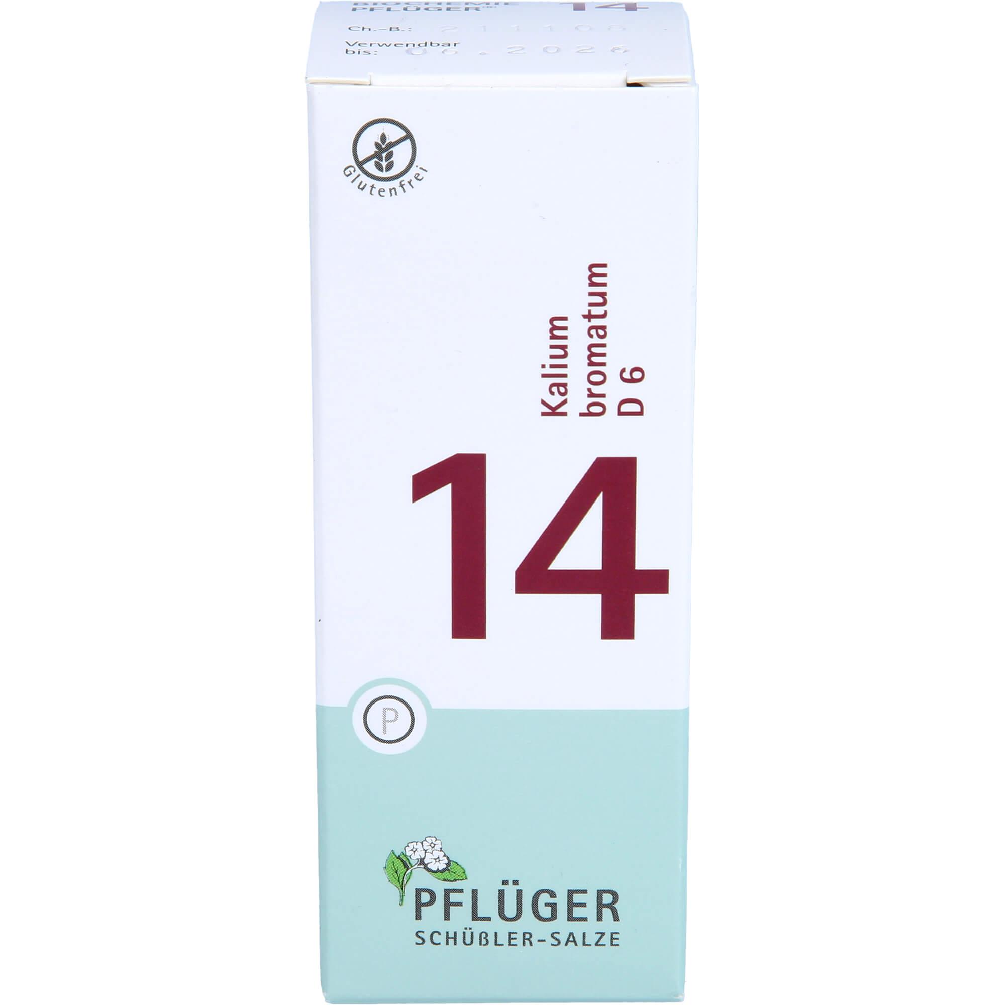 BIOCHEMIE Pflüger 14 Kalium bromatum D 6 Tabletten