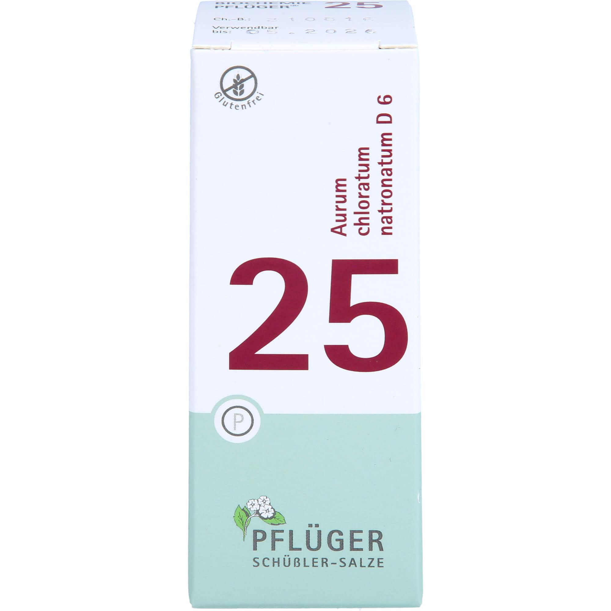 BIOCHEMIE Pflüger 25 Aurum chlorat.natron.D 6 Tab.