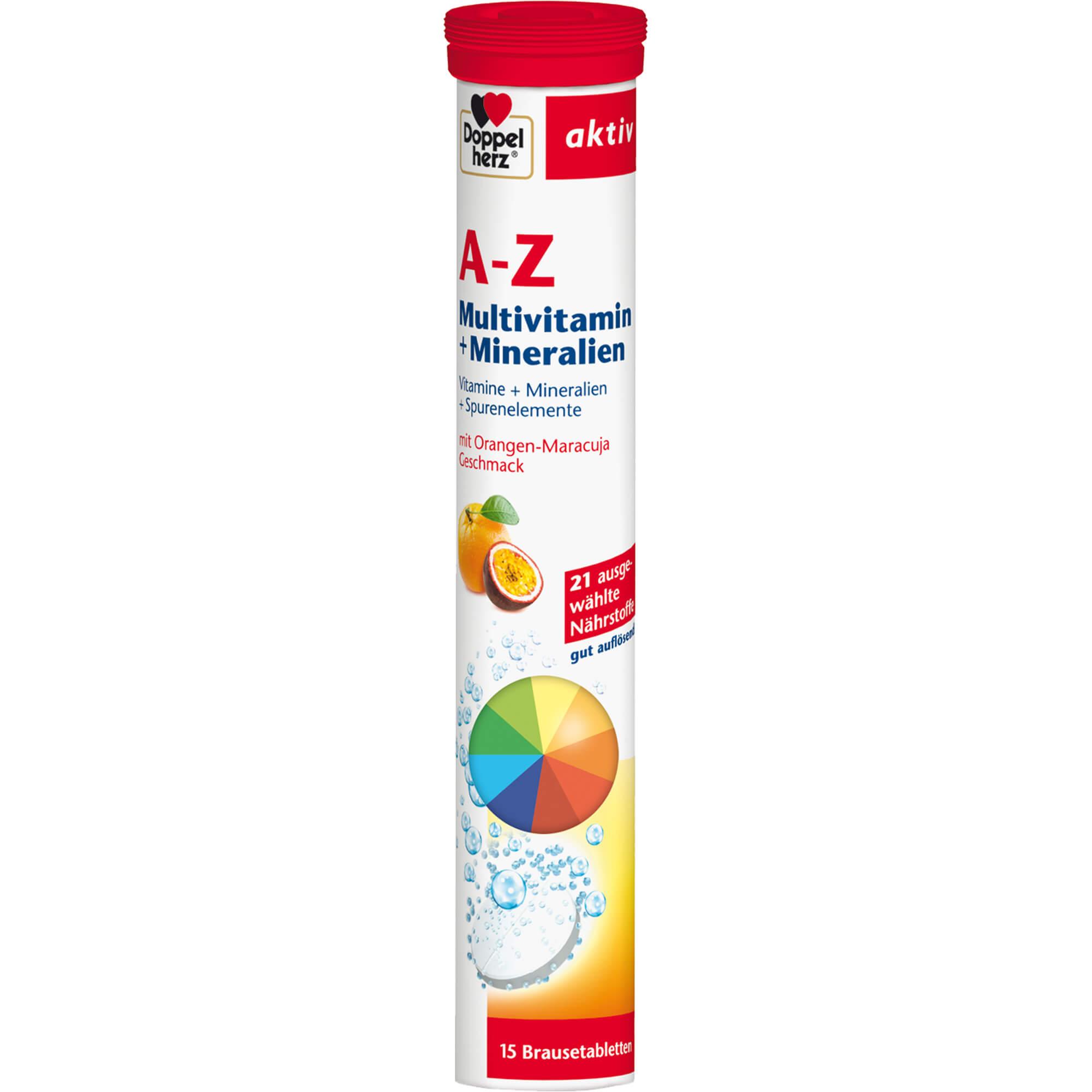 DOPPELHERZ A-Z Multivitamin+Mineralien Brausetabl.
