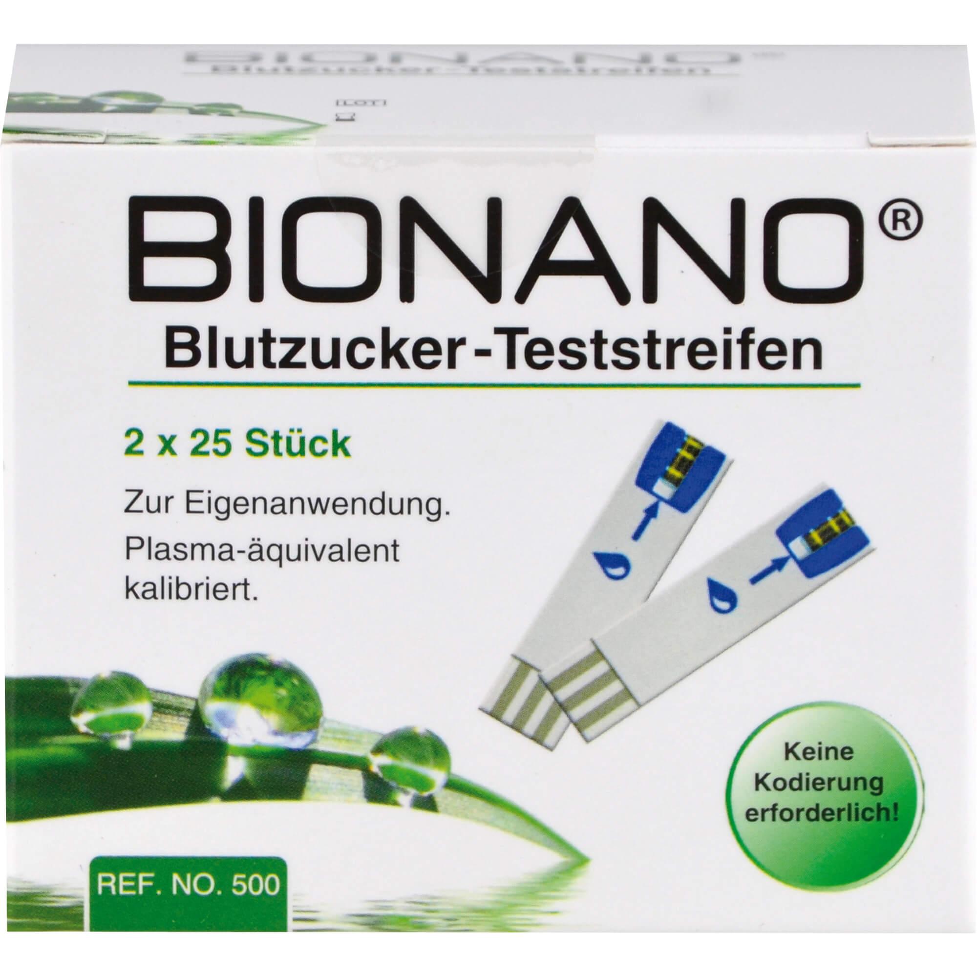 BIONANO Blutzucker-Teststreifen