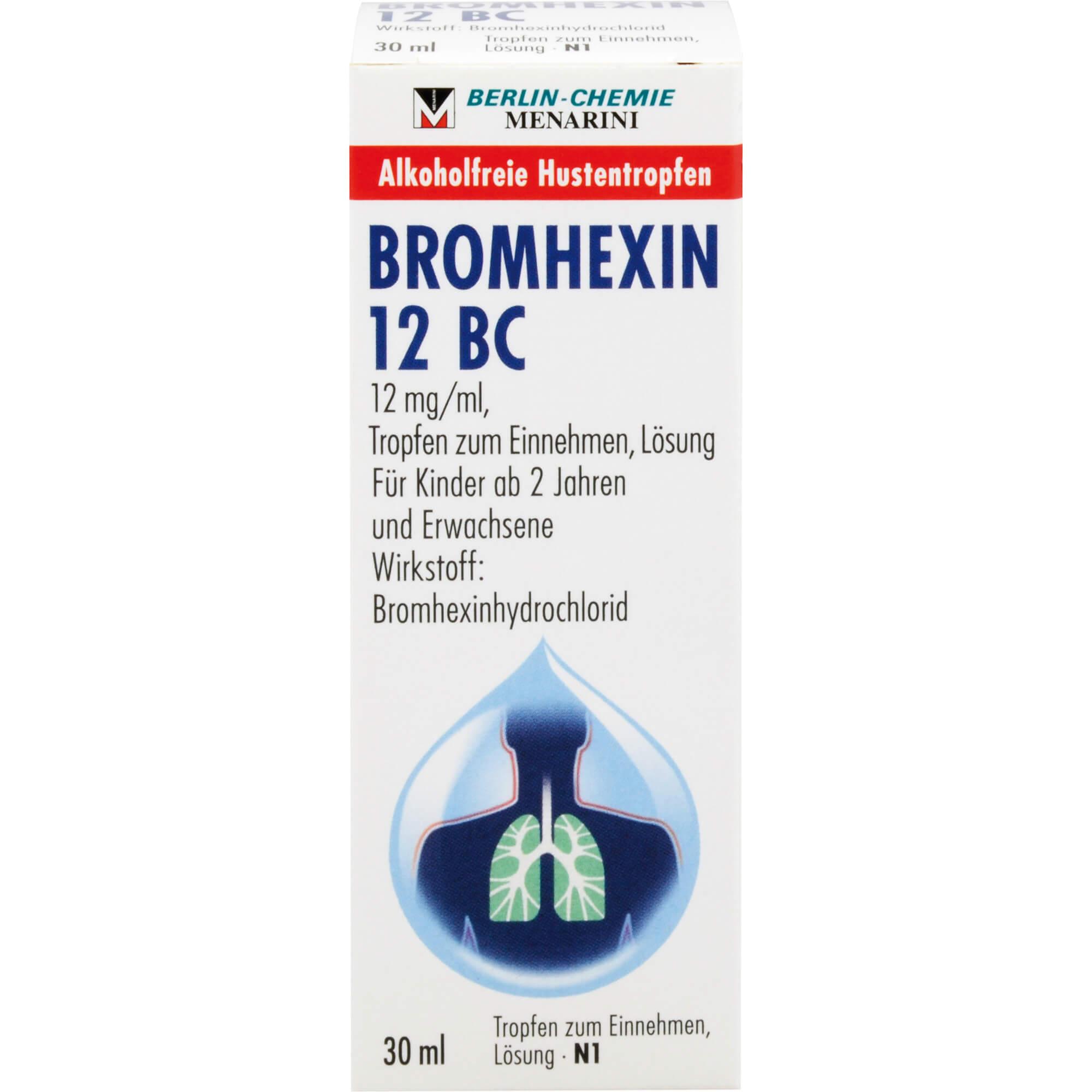 BROMHEXIN 12 BC Tropfen zum Einnehmen