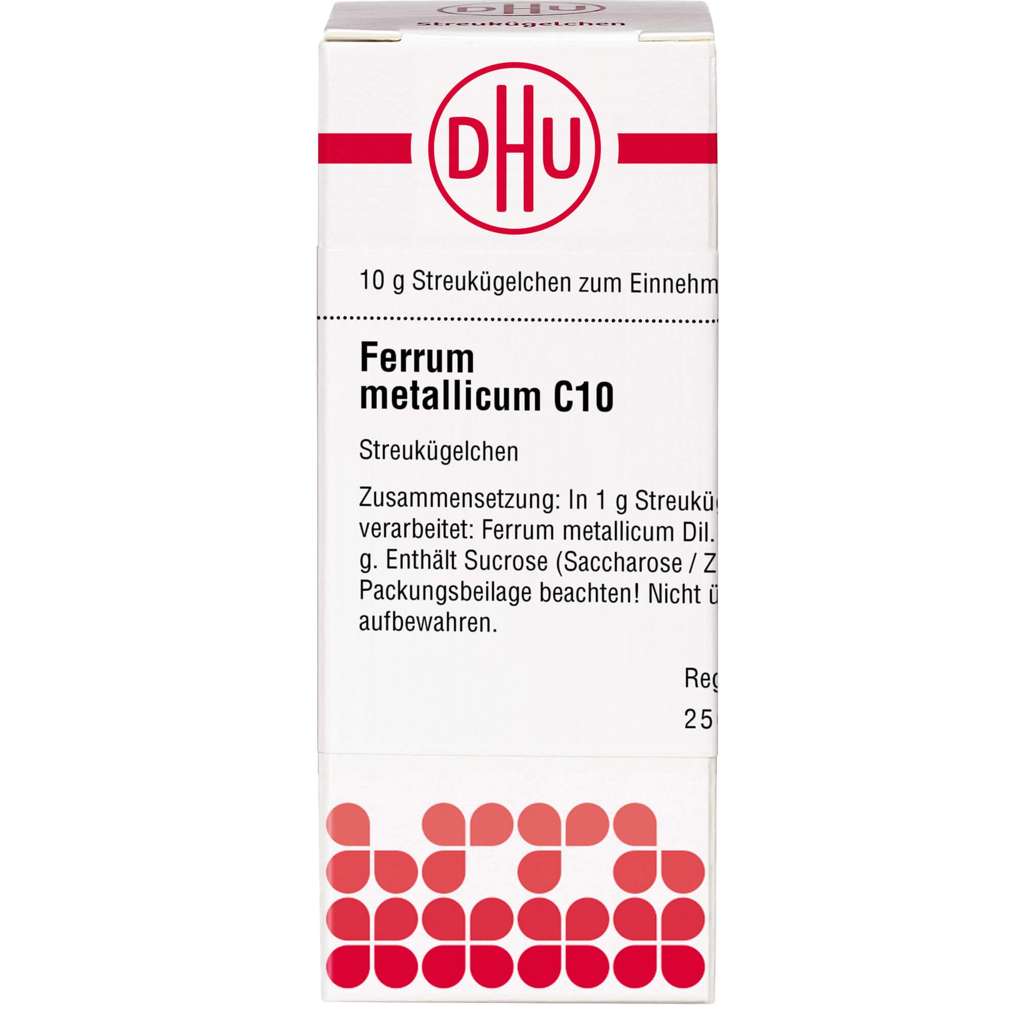 FERRUM METALLICUM C 10 Globuli