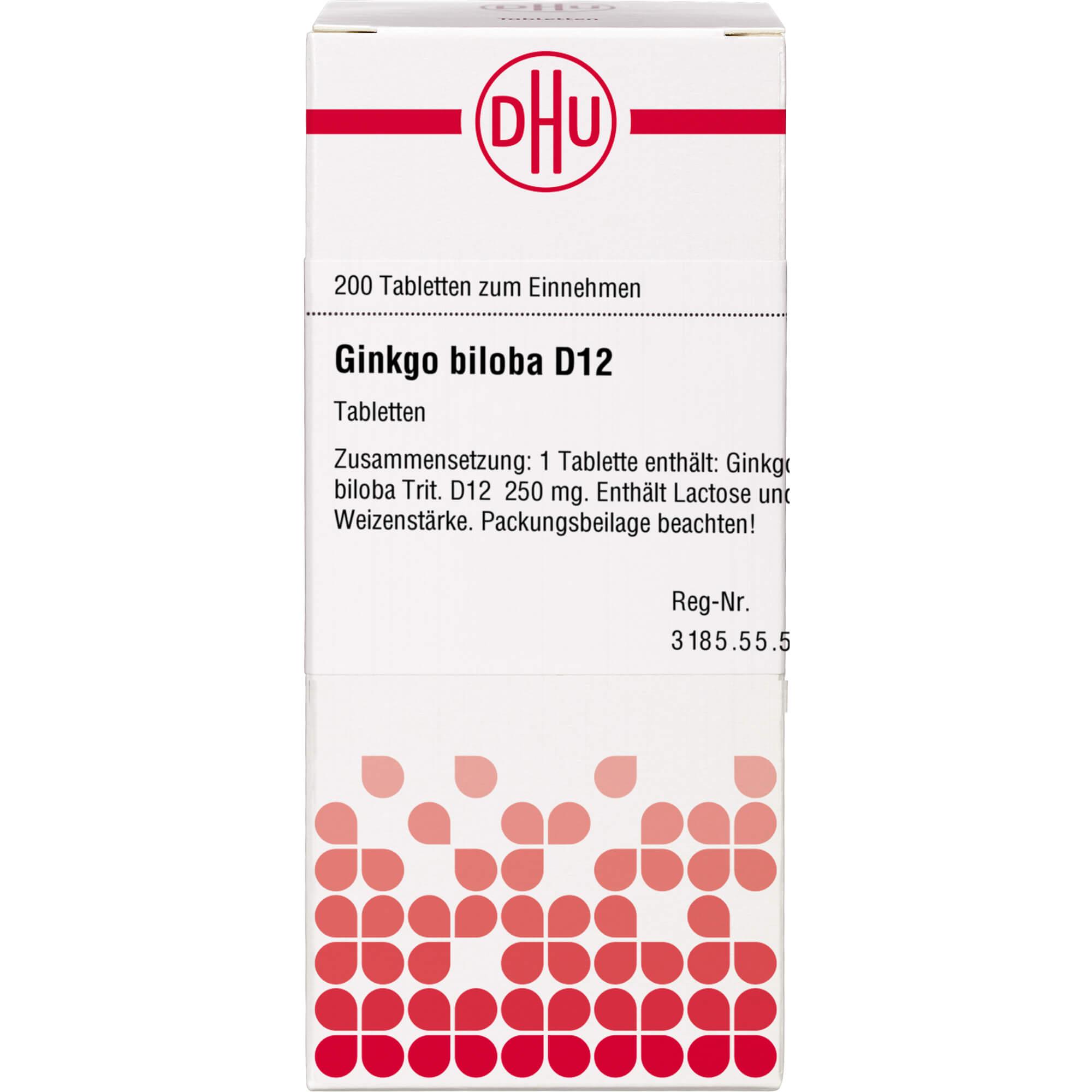 GINKGO BILOBA D 12 Tabletten