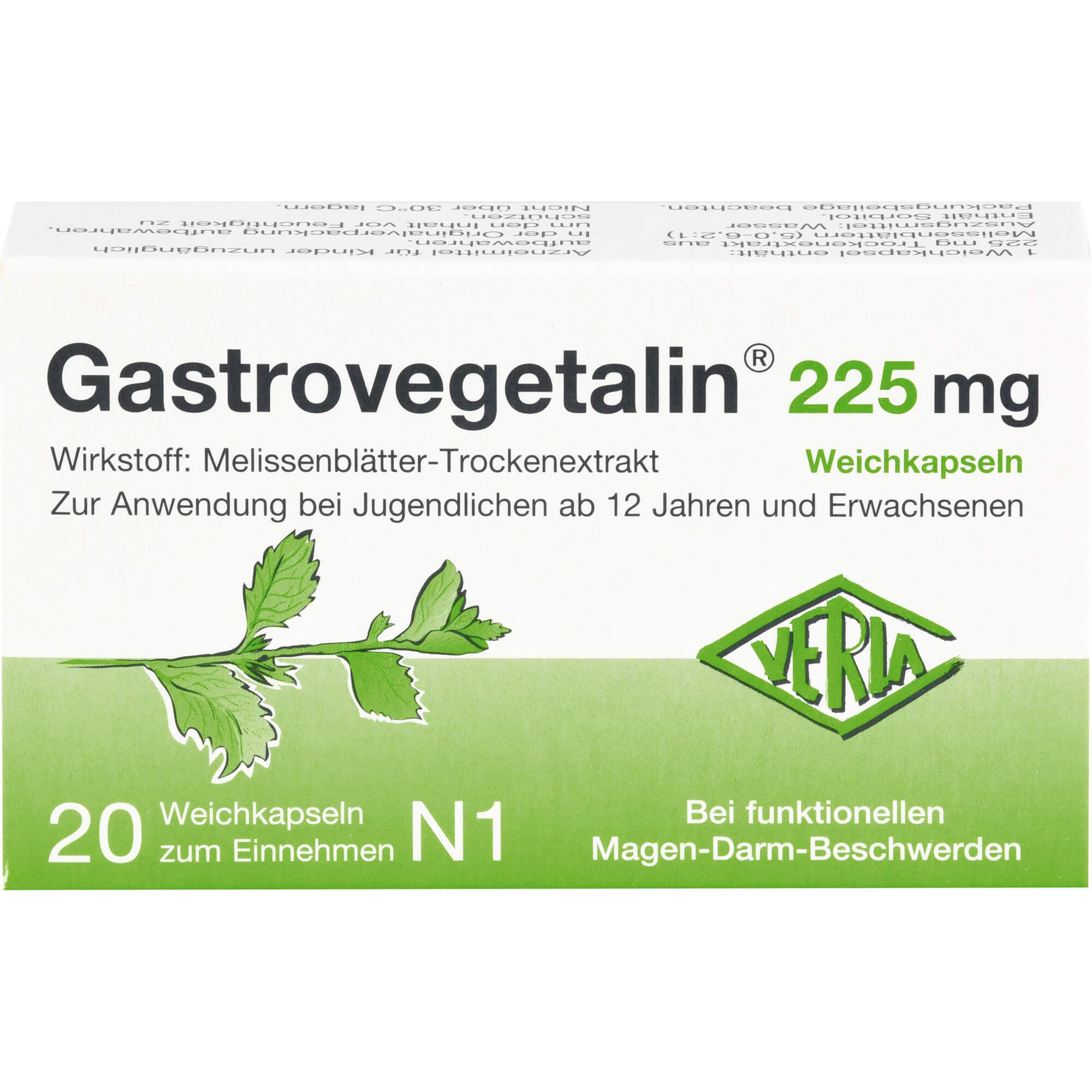 GASTROVEGETALIN 225 mg Weichkapseln